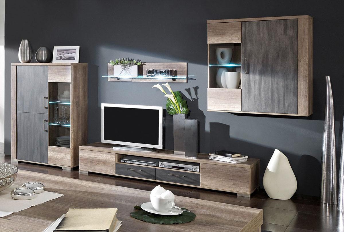marrakesch wohnwand ii wildeiche tr ffel metallic edelmatt preiswert bestellen. Black Bedroom Furniture Sets. Home Design Ideas