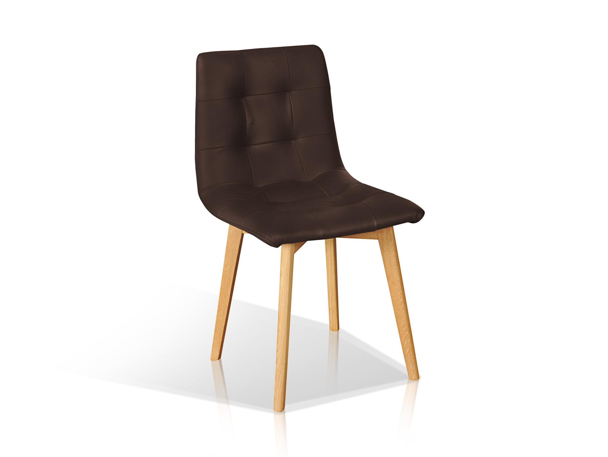 marvin esszimmerstuhl echtleder braun buche. Black Bedroom Furniture Sets. Home Design Ideas