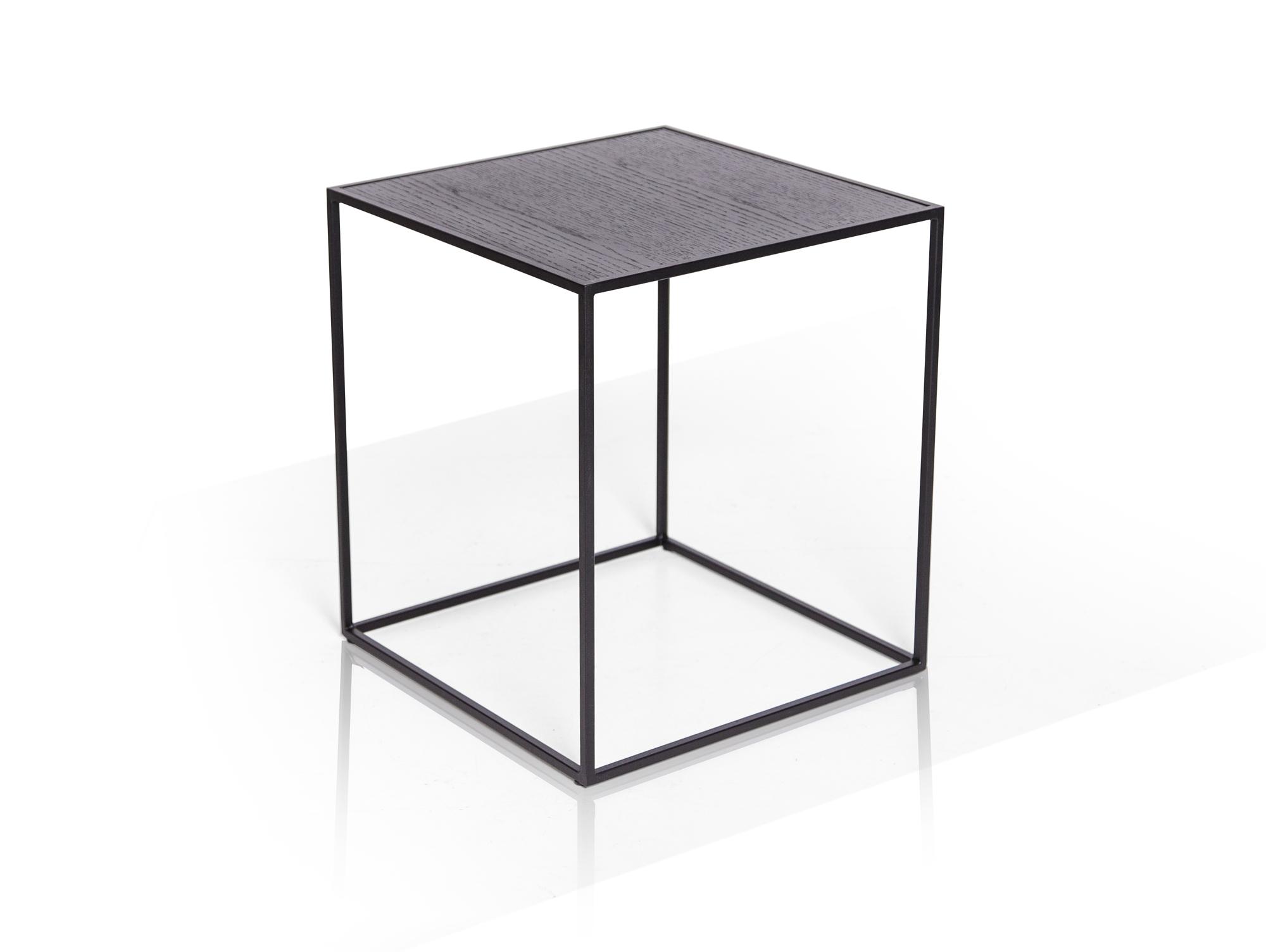 MEGGY Beistelltisch 40x40 cm, Material Metall, mit Platte in