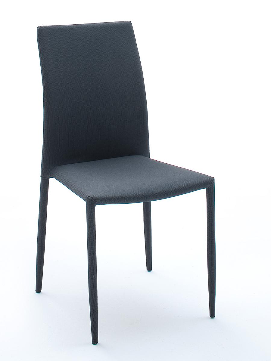 mia stuhl stapelstuhl stoffbezug schwarz grau. Black Bedroom Furniture Sets. Home Design Ideas