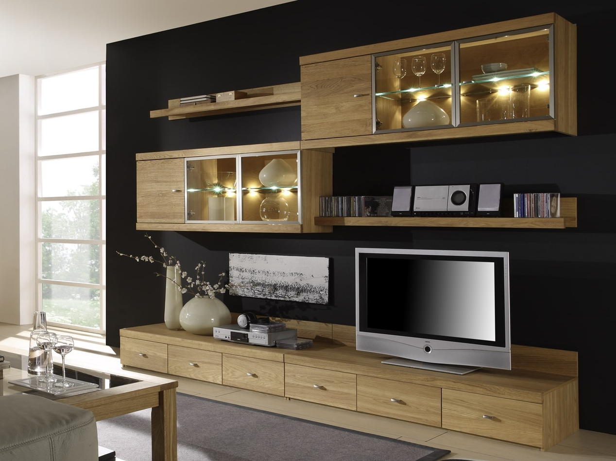 milano i wohnwand eiche online g nstig. Black Bedroom Furniture Sets. Home Design Ideas