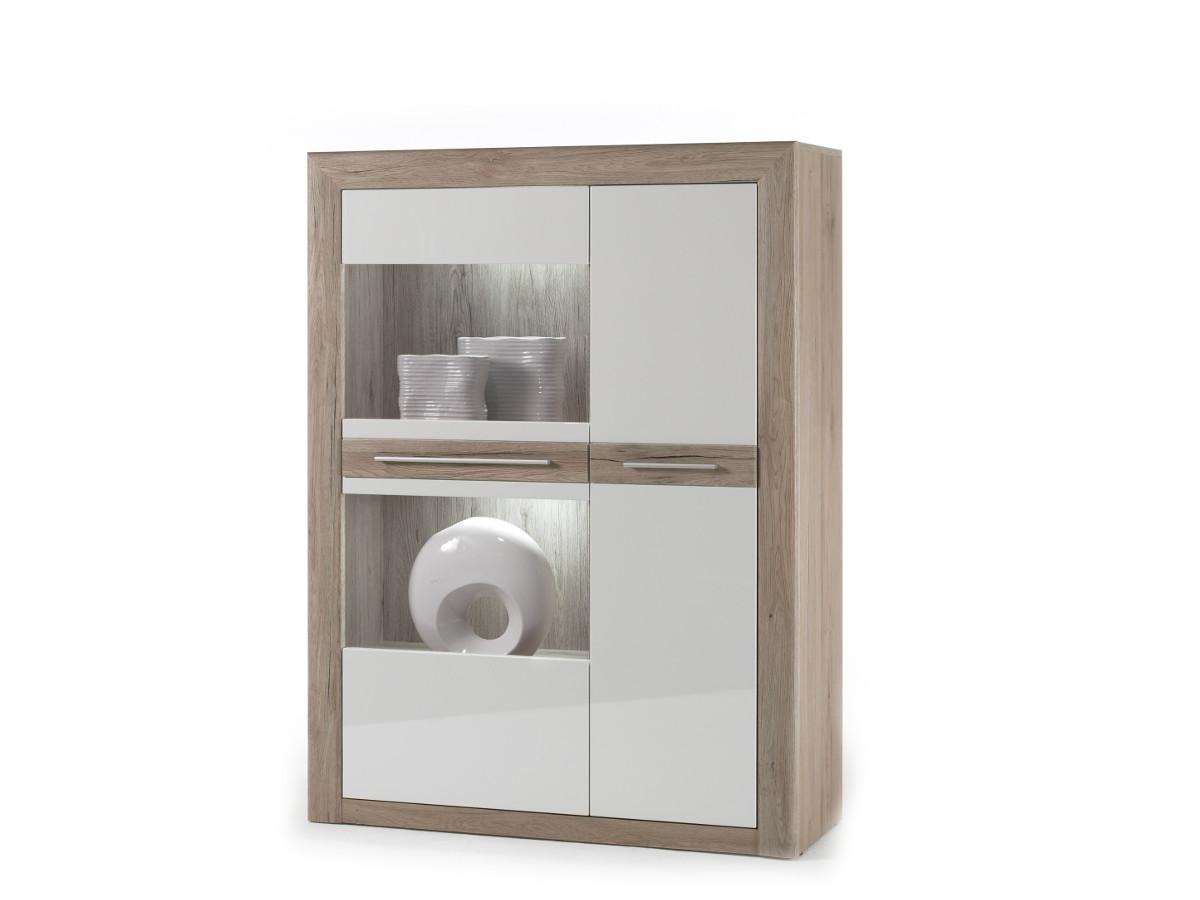 miriam kombi vitrine l weiss san remo sand 519 b2b trade. Black Bedroom Furniture Sets. Home Design Ideas