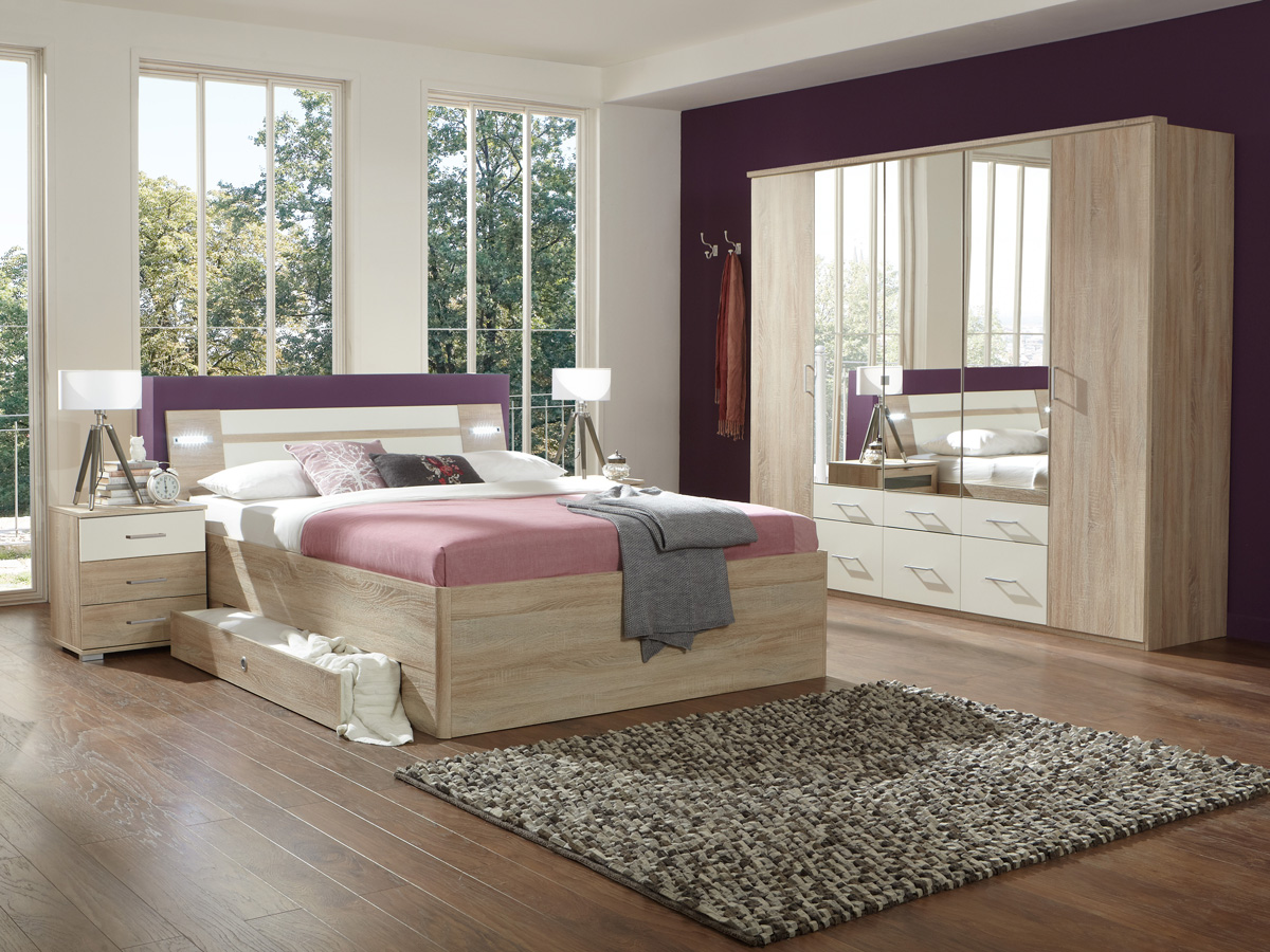 marlin komplett schlafzimmer eiche s gerau wei. Black Bedroom Furniture Sets. Home Design Ideas
