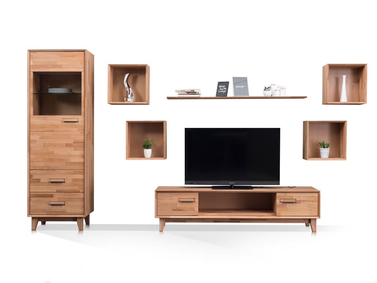 massive wohnwand eiche g nstig kaufen. Black Bedroom Furniture Sets. Home Design Ideas
