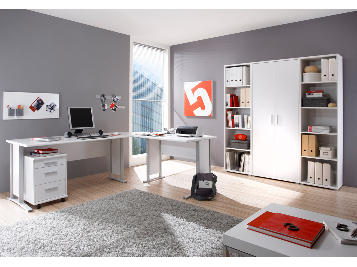 office line heimb ro 7tlg weiss dekor. Black Bedroom Furniture Sets. Home Design Ideas