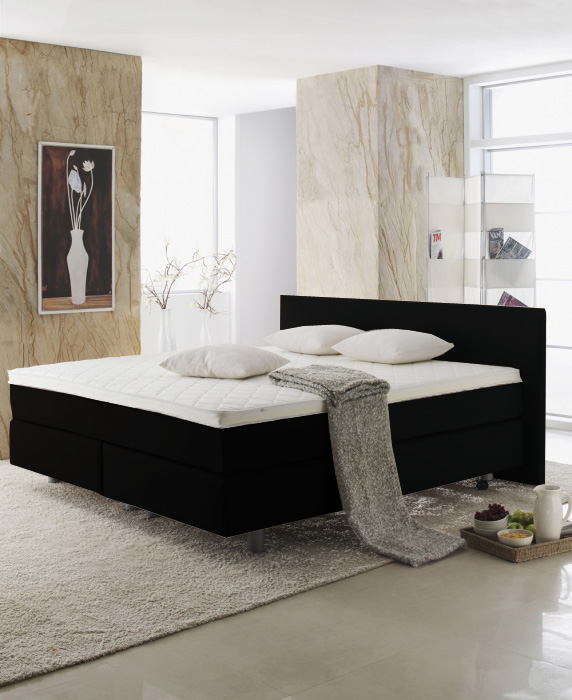 bett kopfteil paco boxspring 180x200 cm schwarz von. Black Bedroom Furniture Sets. Home Design Ideas