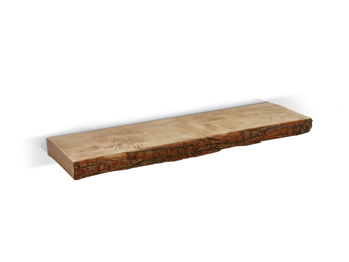 Wandregal holz natur  PEKO Wandregal Natur mit Eichenrinde - 59 € - B2B-Trade