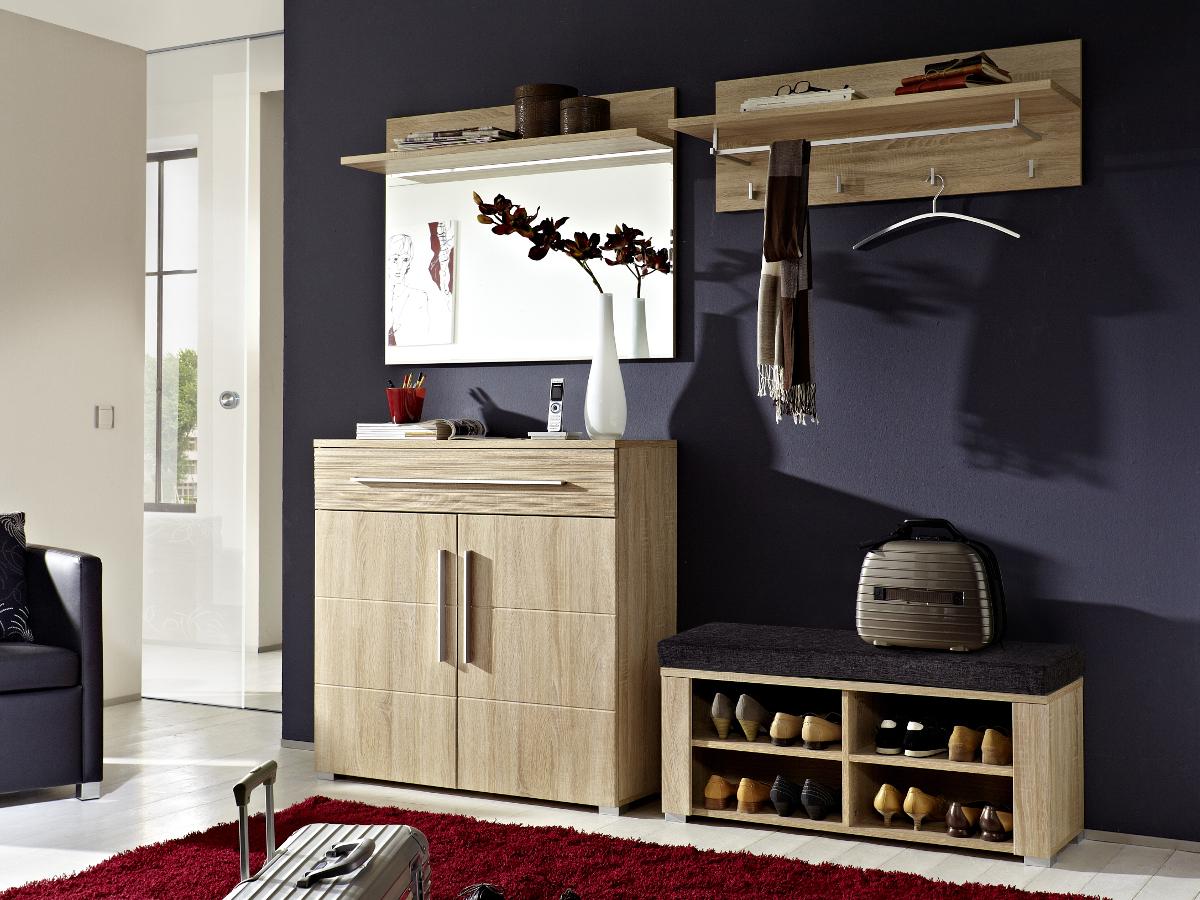 punkt garderoben kombi ii sonoma eiche hell. Black Bedroom Furniture Sets. Home Design Ideas
