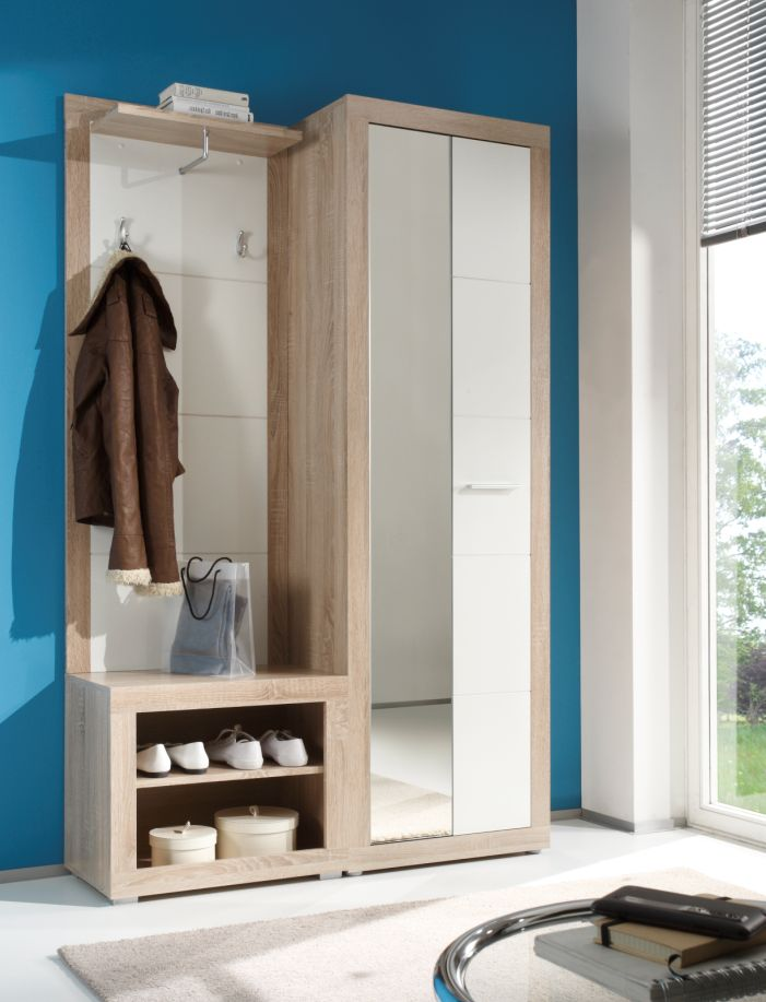 Candy garderobe sonoma wei glanz for Garderobe 90 breit