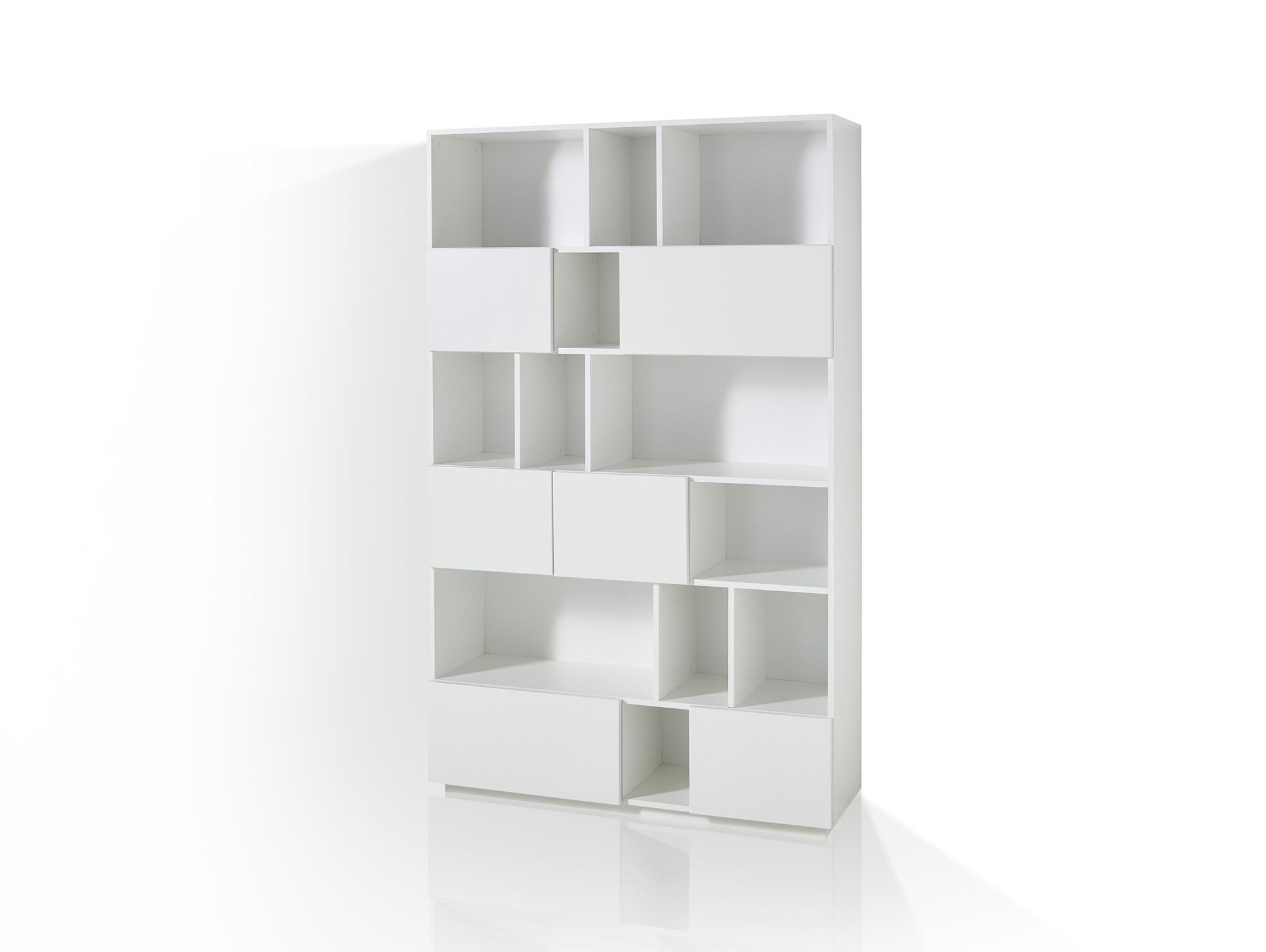 RAMIRO Regal / Raumteiler, Breite 120 cm, Material MDF weiss