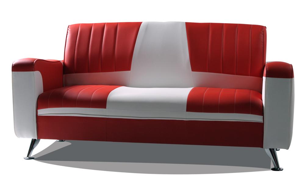 Sofa 2 Sitzer Retro Sofa Sitzer Antik Retro Hell Auf Wei