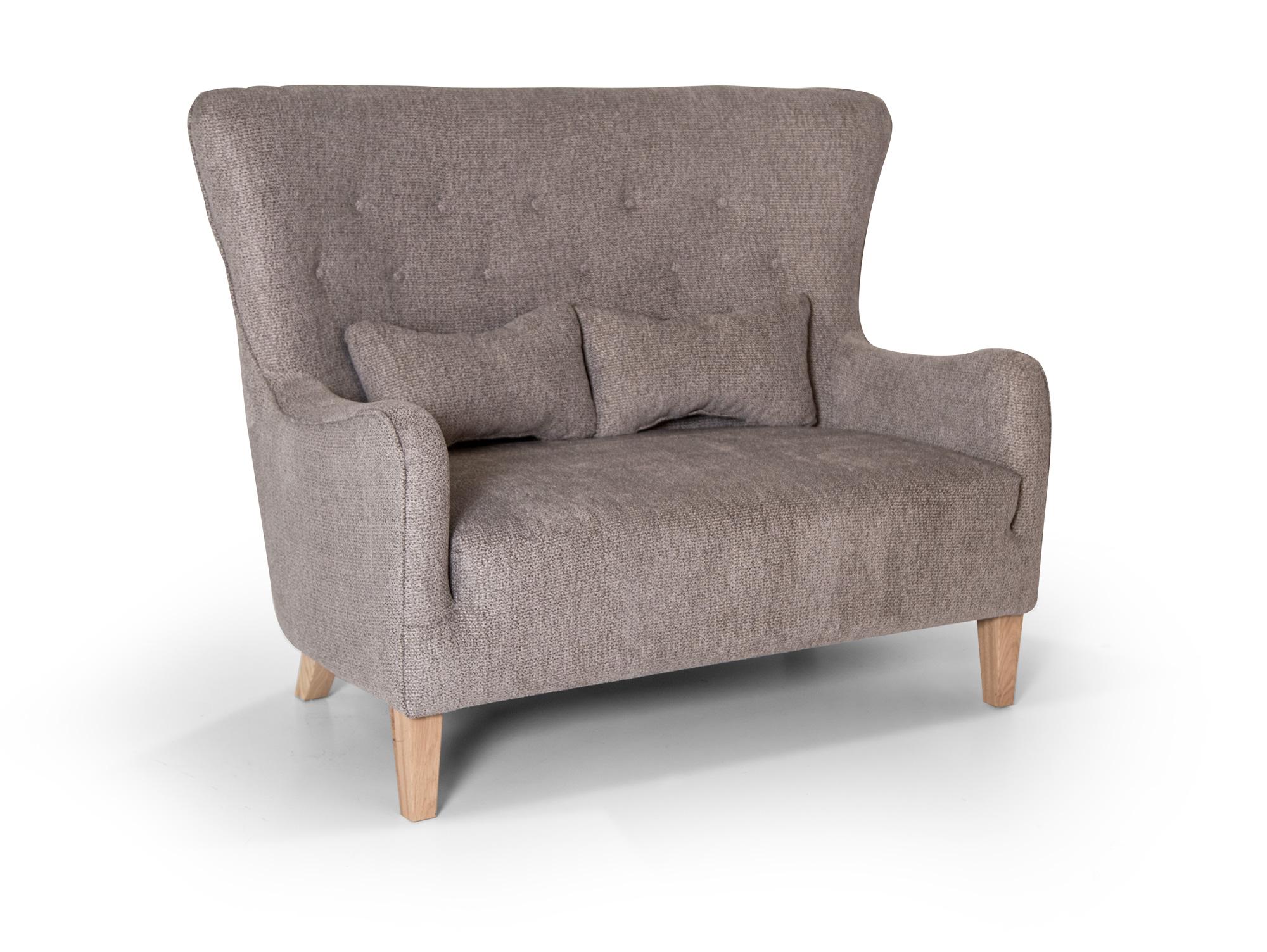 riga 2 sitzer sofa webstoff grau. Black Bedroom Furniture Sets. Home Design Ideas