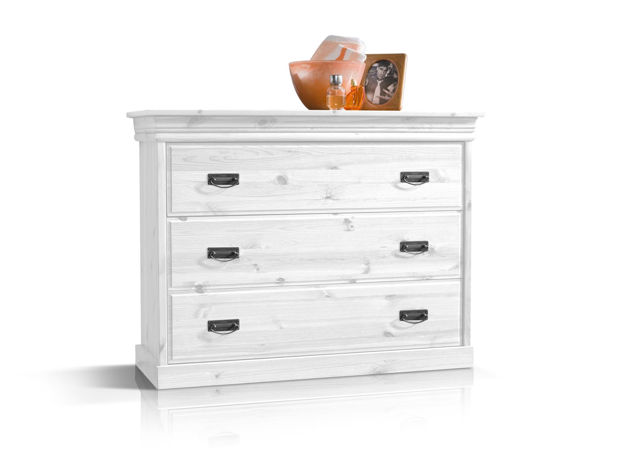 richard ii kommode sideboard kiefer massiv kiefer weiss. Black Bedroom Furniture Sets. Home Design Ideas