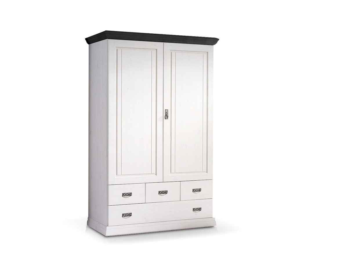 romeo w scheschrank b120 kiefer weiss colonial. Black Bedroom Furniture Sets. Home Design Ideas