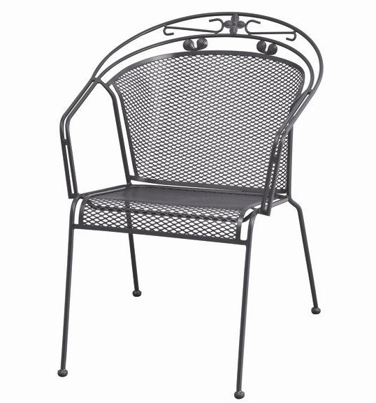 Siena Garden Gartenstapelsessel Romaneo Stahlgestell / Streckmetall grau
