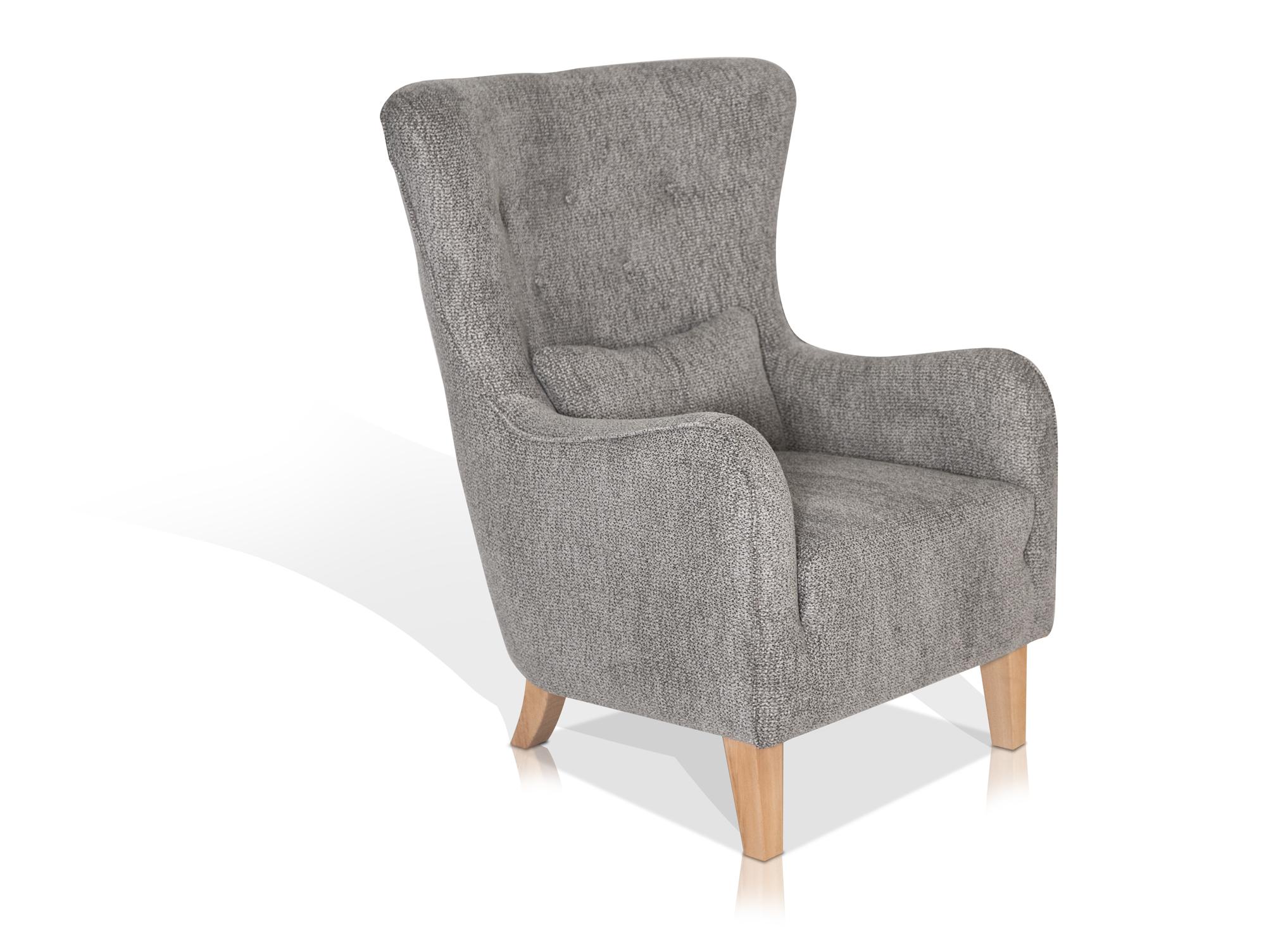 riga ohrensessel armchair grau. Black Bedroom Furniture Sets. Home Design Ideas