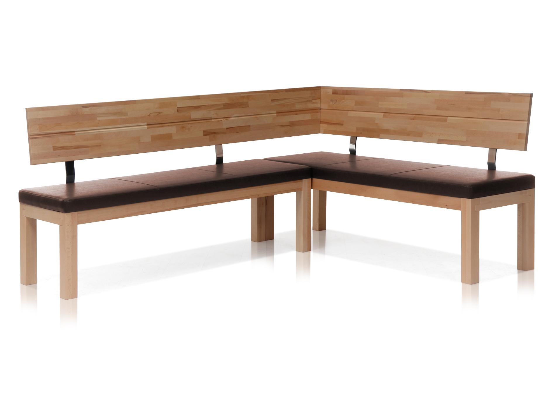 salima eckbank massivholz mit kunstleder bezogen 208 x 171. Black Bedroom Furniture Sets. Home Design Ideas