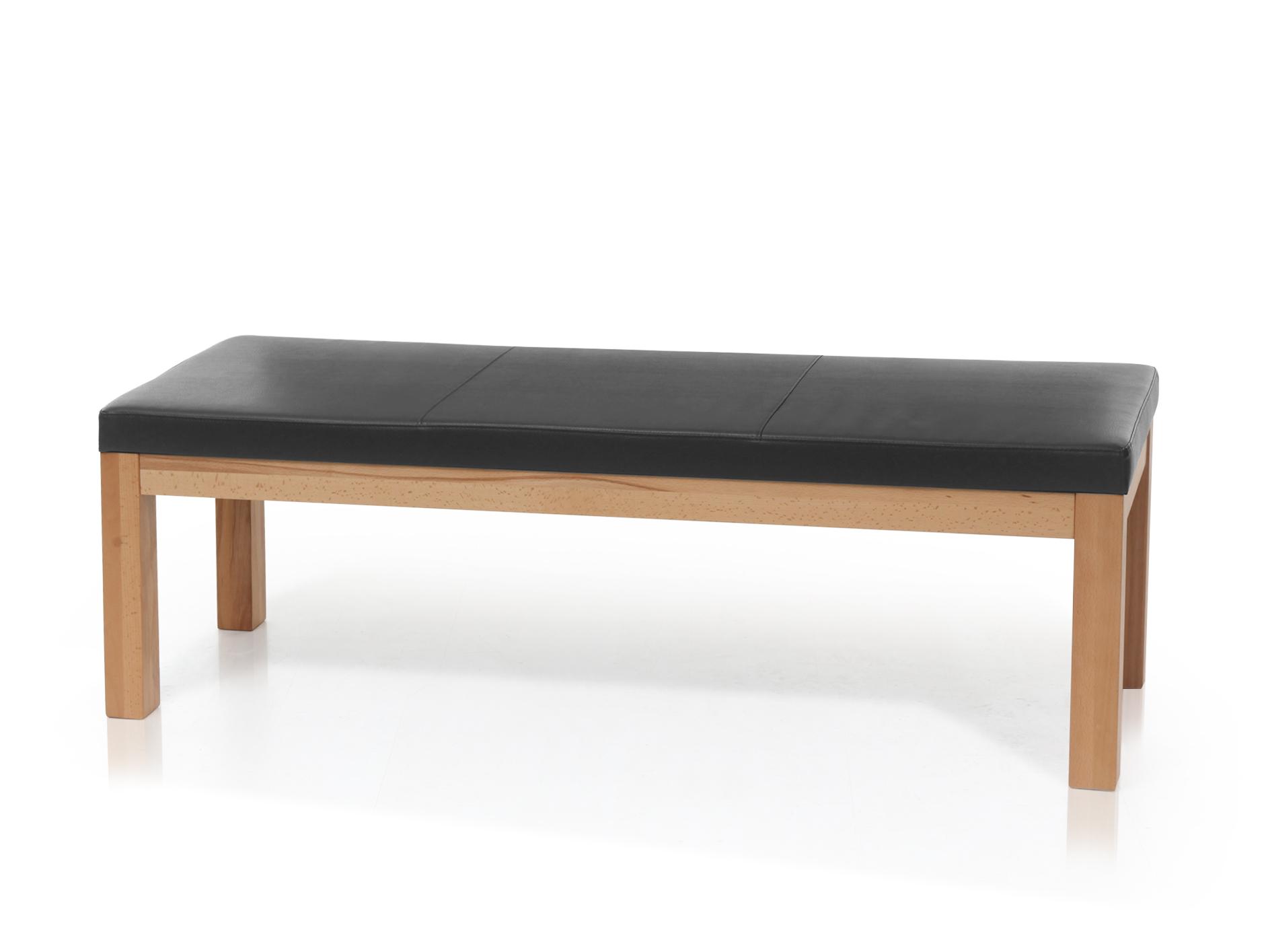 salima sitzbank ohne r cken massivholz mit kunstleder. Black Bedroom Furniture Sets. Home Design Ideas