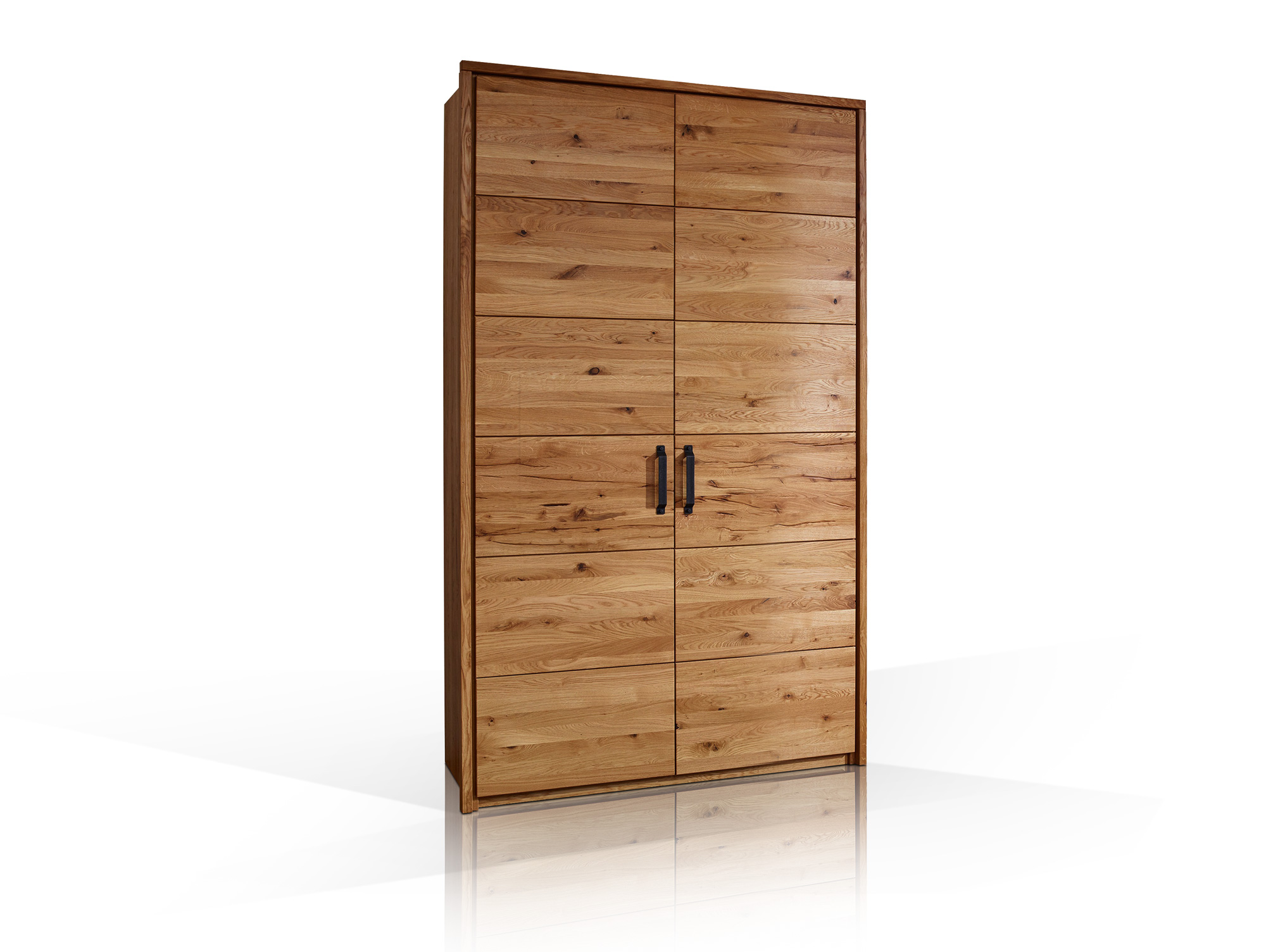 salvador massivholz kleiderschrank wildeiche ge lt 100 cm 2 t rig. Black Bedroom Furniture Sets. Home Design Ideas