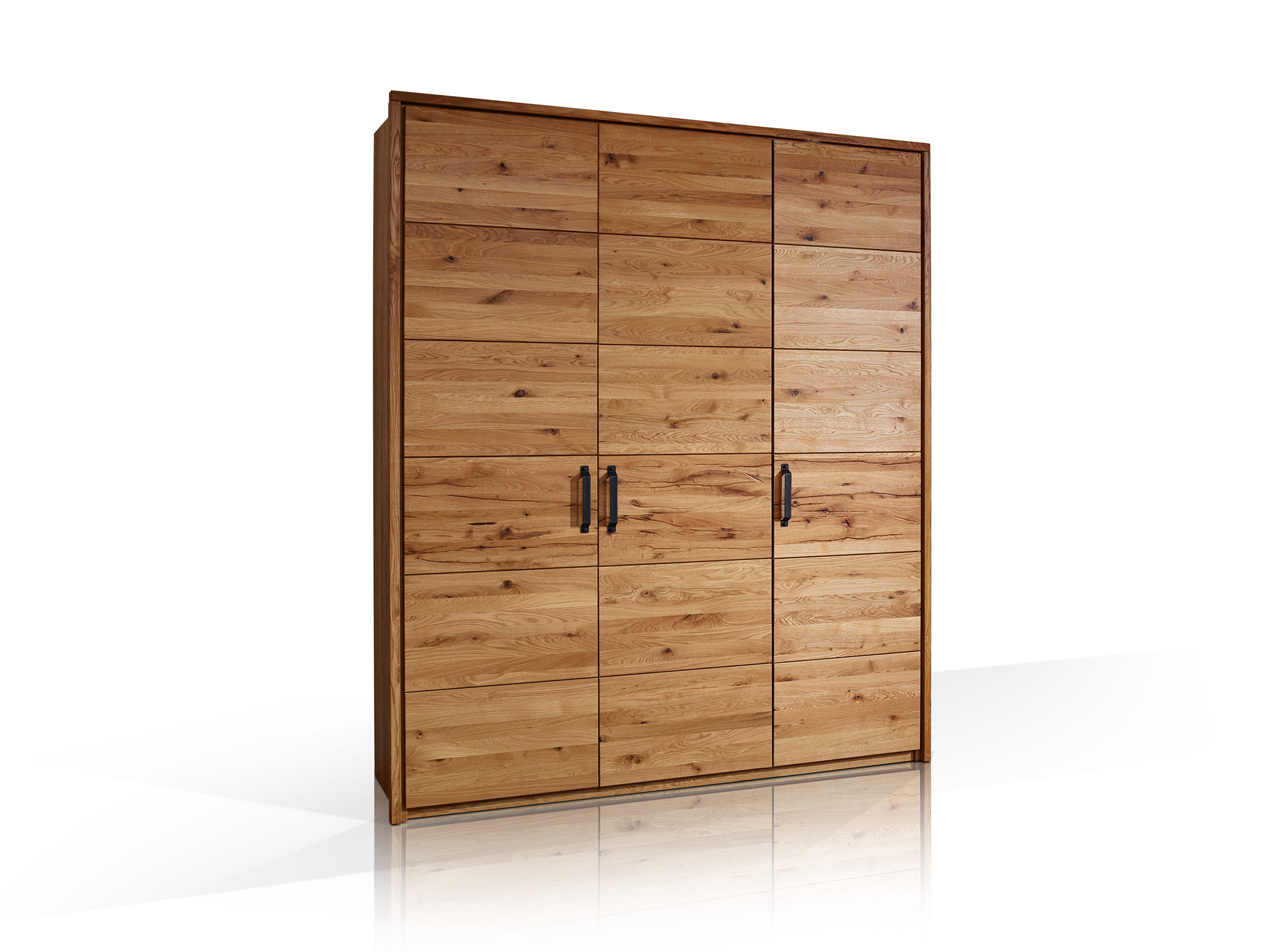 salvador massivholz kleiderschrank wildeiche ge lt 180 cm 3 t rig. Black Bedroom Furniture Sets. Home Design Ideas