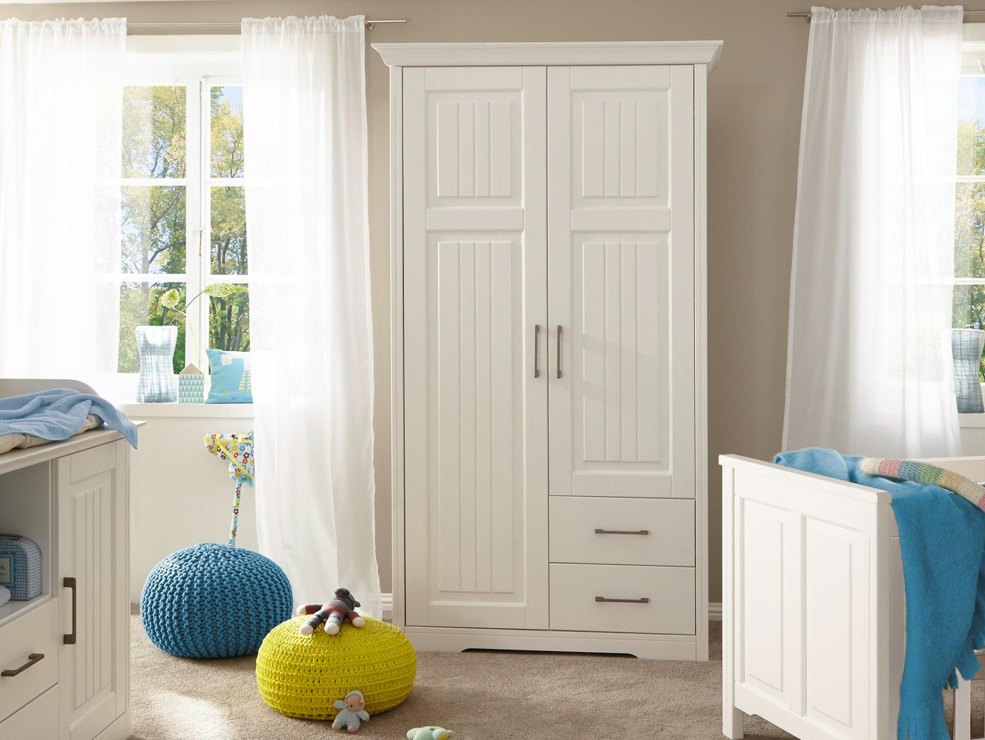 samira kleiderschrank 2trg kiefer weiss. Black Bedroom Furniture Sets. Home Design Ideas