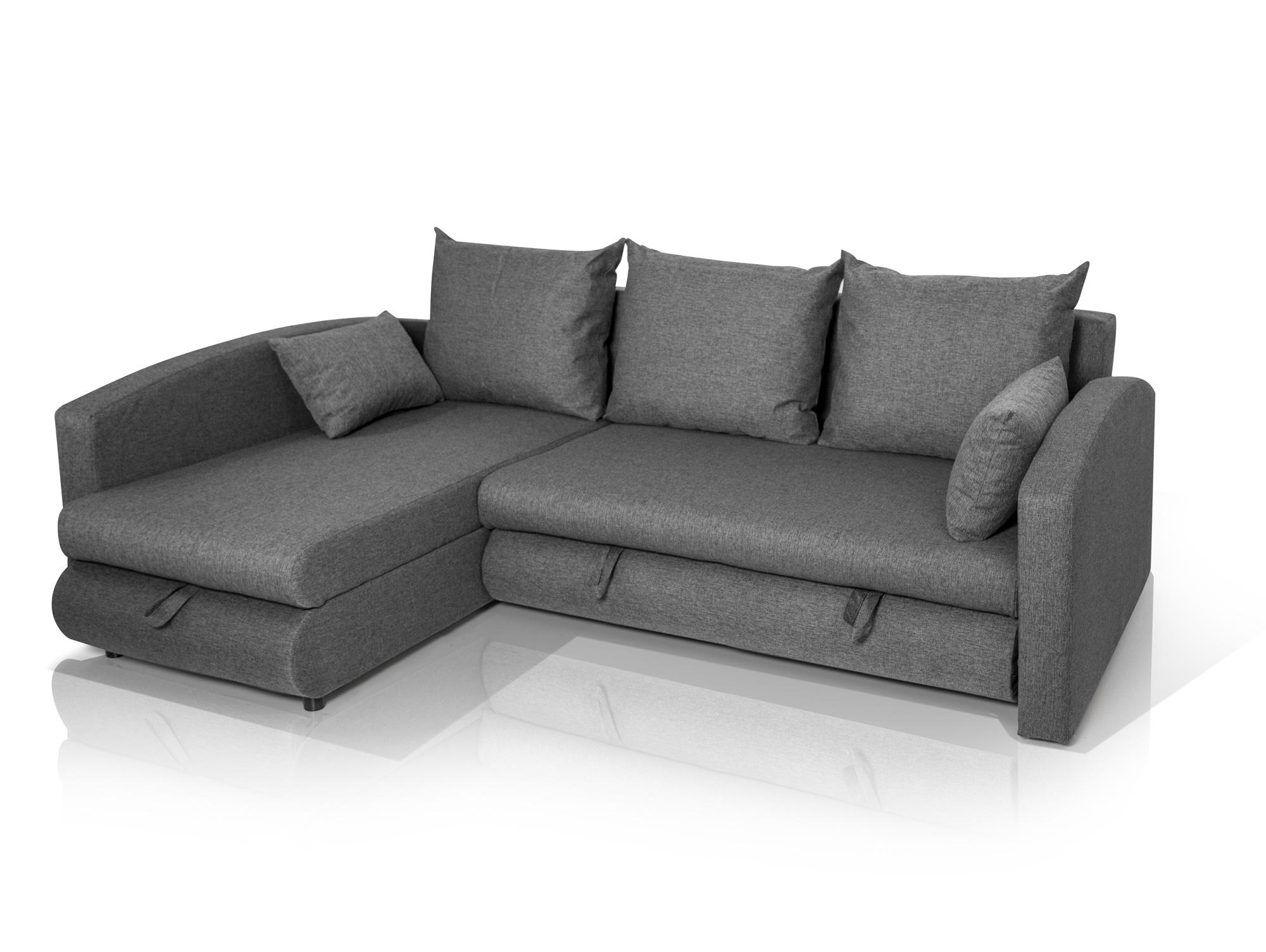 sanja ecksofa webstoff grau. Black Bedroom Furniture Sets. Home Design Ideas