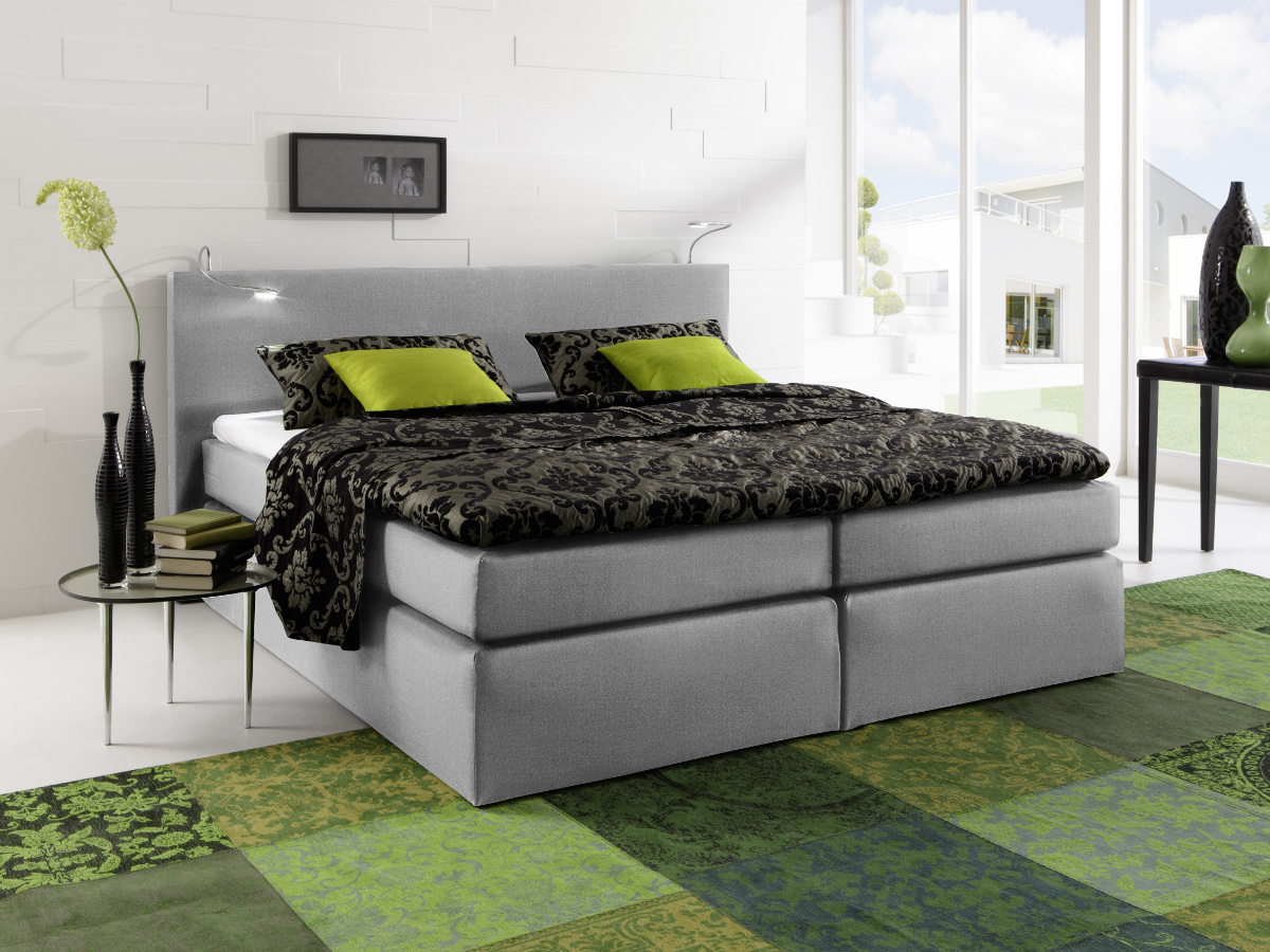 savanna boxspringbett doppelbett h rtegrad 2 140 x 200 cm grau. Black Bedroom Furniture Sets. Home Design Ideas