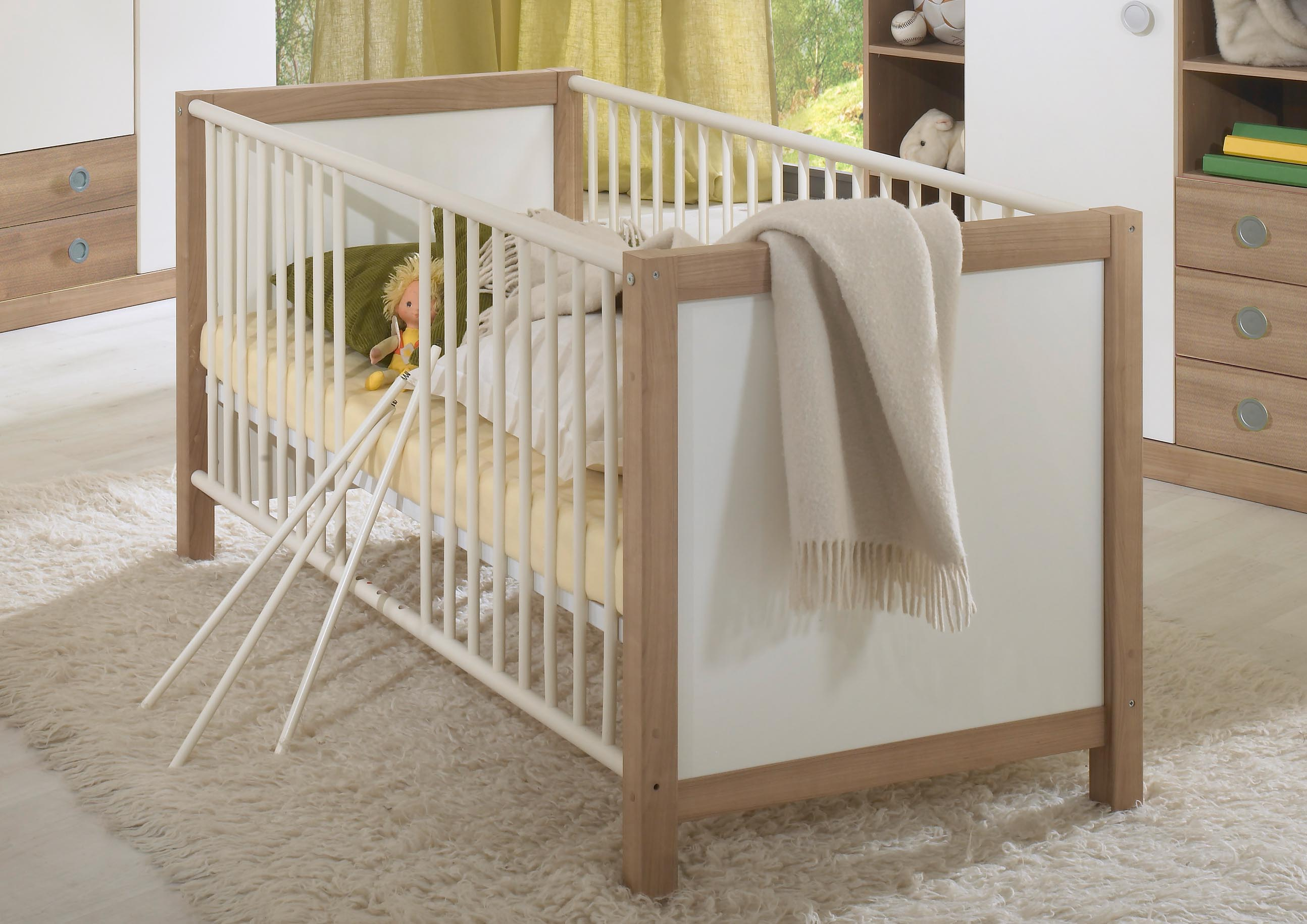 Vorschaubild von SCARLETT Babybett alpinweiß / nocce