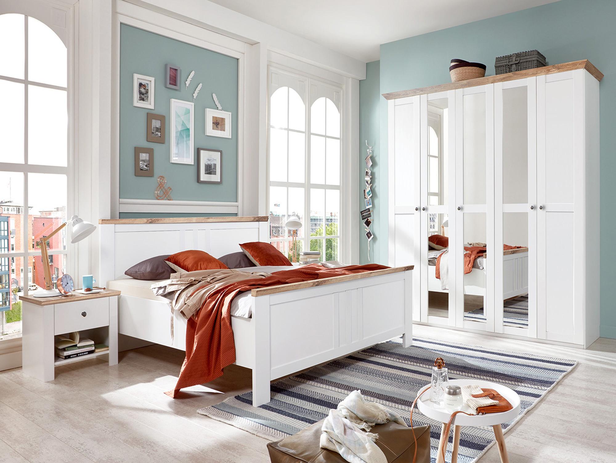 oldenburg komplett schlafzimmer alpinwei plankeneiche 140 cm. Black Bedroom Furniture Sets. Home Design Ideas