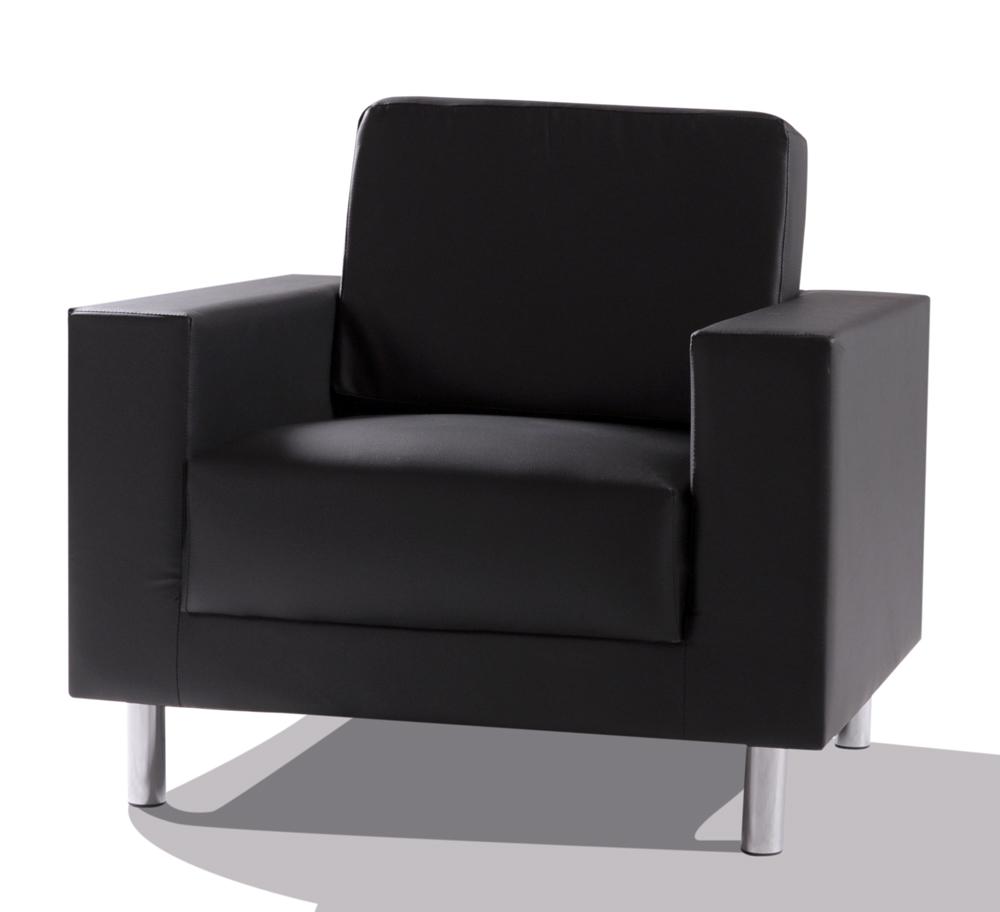 SUSI Sessel Kunstleder schwarz