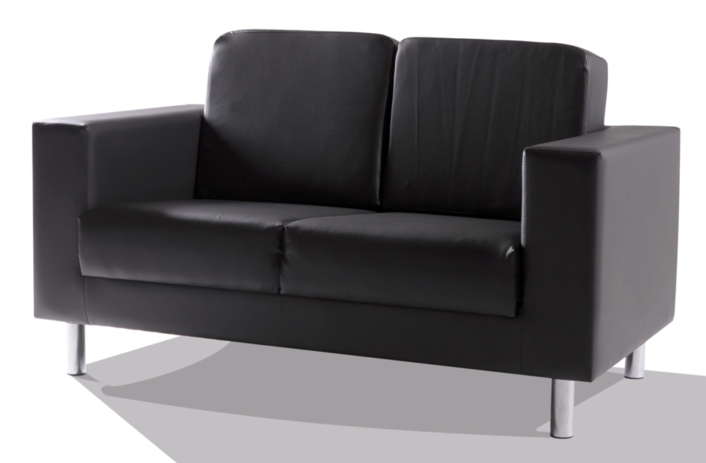 susi 2er sofa kunstleder schwarz. Black Bedroom Furniture Sets. Home Design Ideas