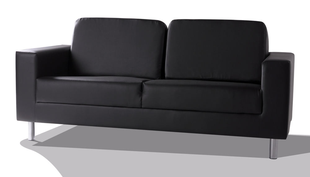 susi 3 sitzer kunstleder sofa schwarz. Black Bedroom Furniture Sets. Home Design Ideas