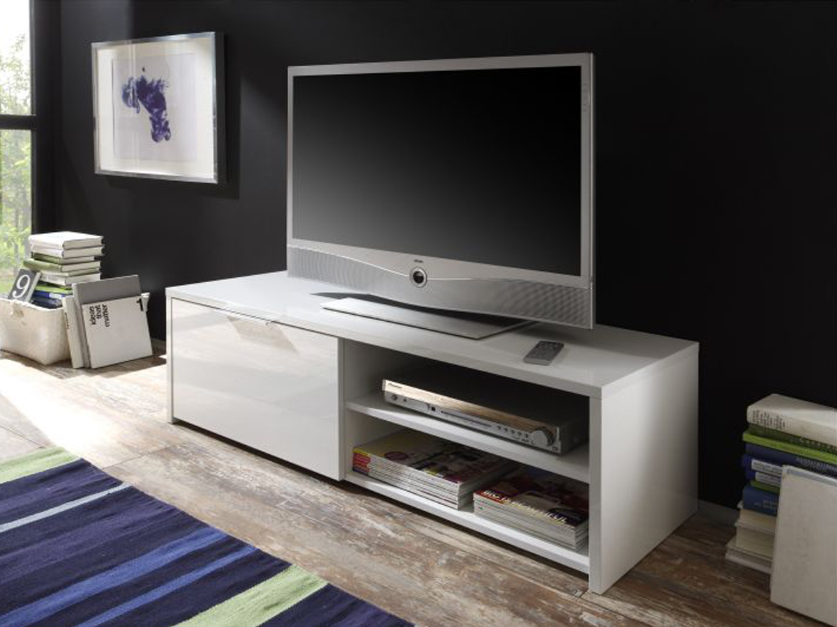 Modernes wohnzimmer schwarz weis laminat – midir