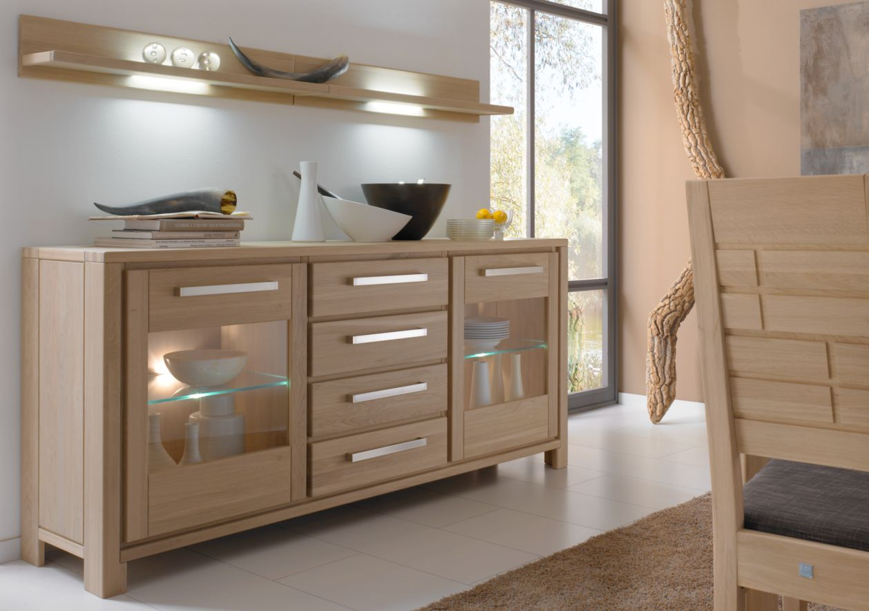 senora sideboard eiche sand 2 t ren 4 sk preiswert bestellen sch ne m bel. Black Bedroom Furniture Sets. Home Design Ideas