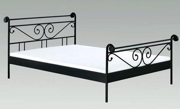 metallbett schwarz 160 200. Black Bedroom Furniture Sets. Home Design Ideas
