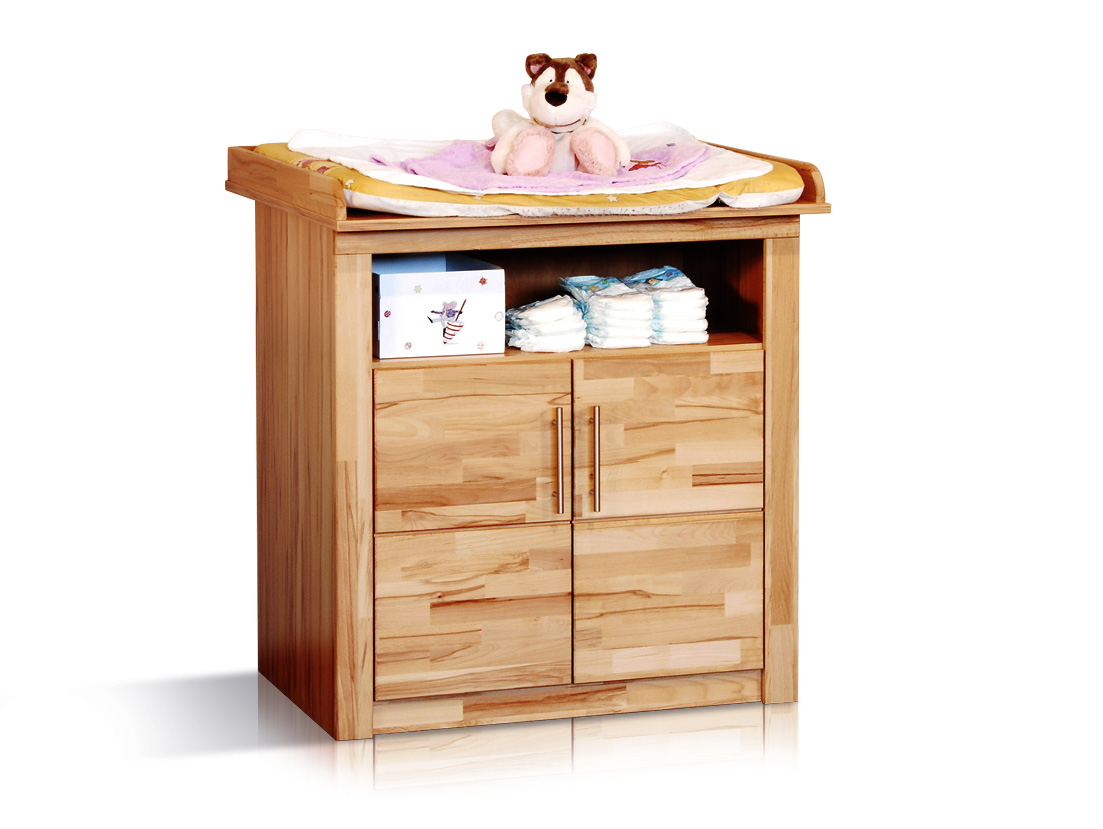 simea wickelkommode kernbuche 2 t ren. Black Bedroom Furniture Sets. Home Design Ideas