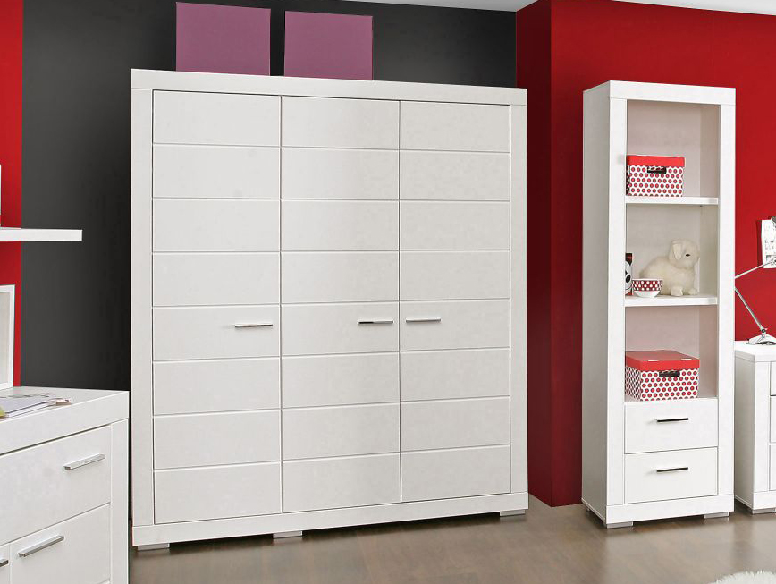 snowy kleiderschrank weiss 3 t rig. Black Bedroom Furniture Sets. Home Design Ideas
