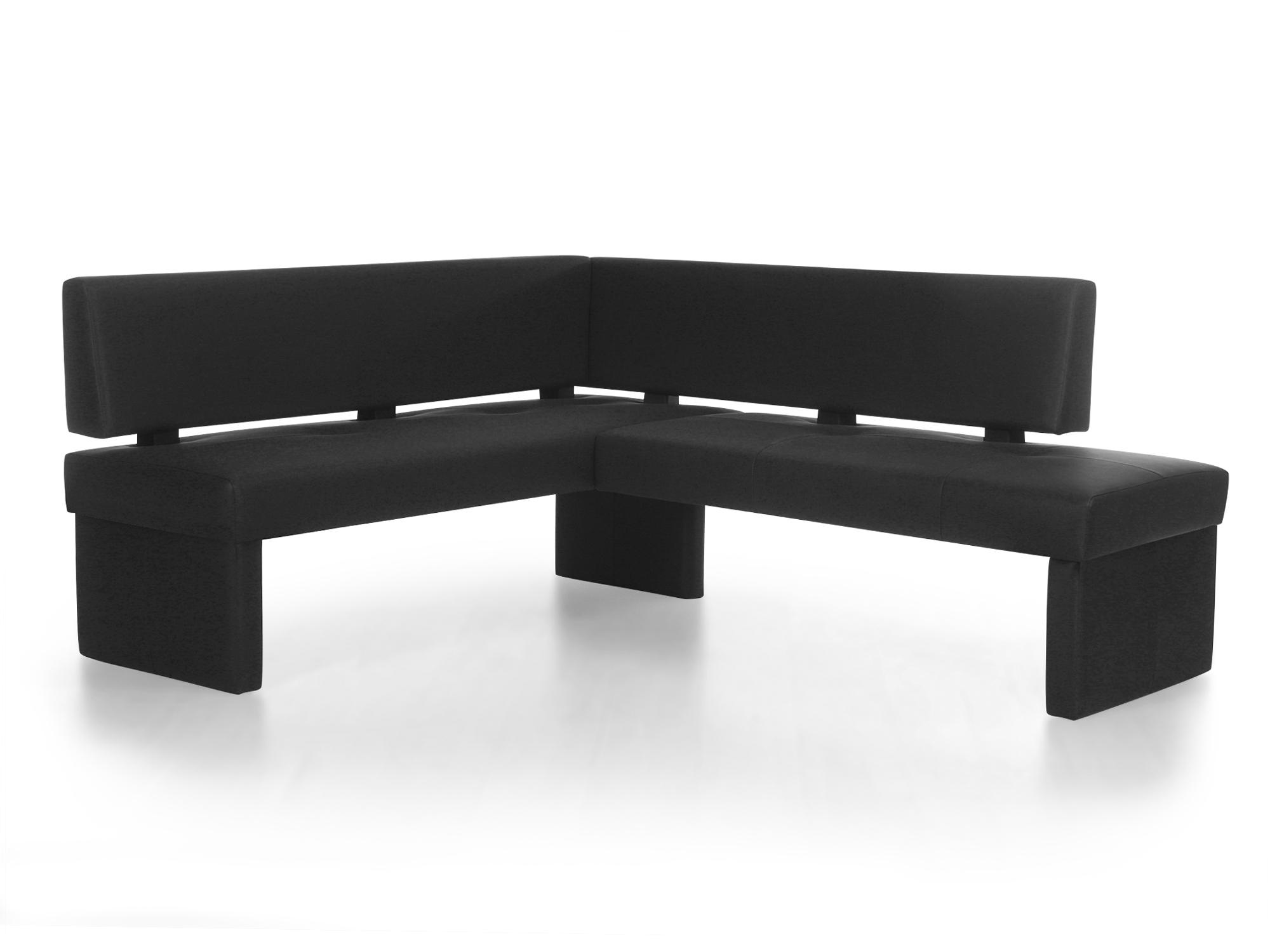 spider domino eckbank mit kunstlederbezug schwarz links. Black Bedroom Furniture Sets. Home Design Ideas