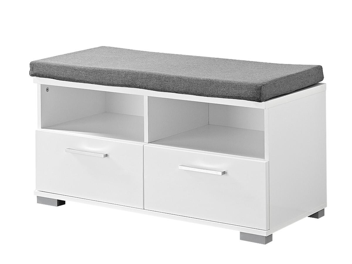 spots garderobenbank sitzbank weiss hochglanz schiefer. Black Bedroom Furniture Sets. Home Design Ideas