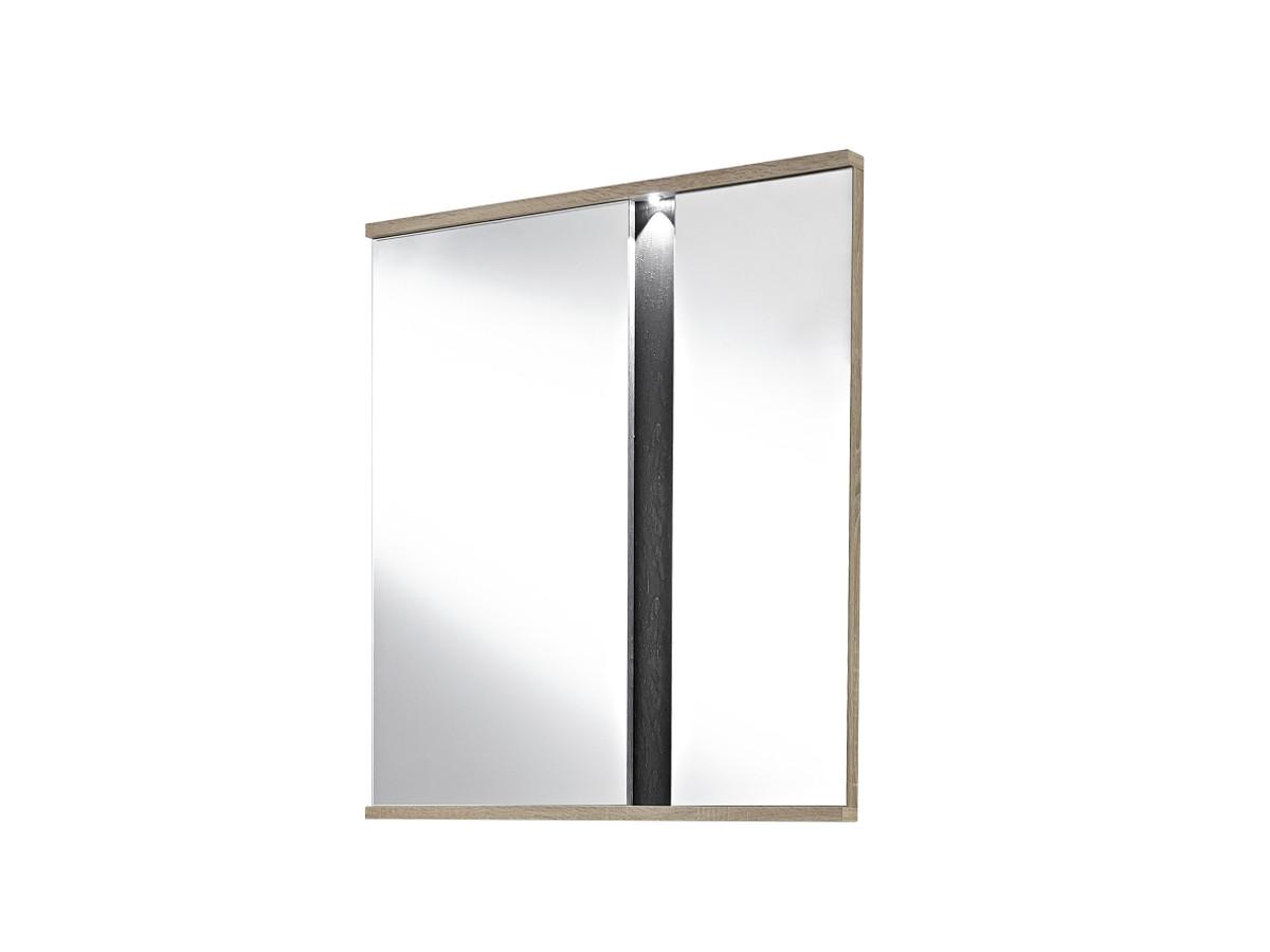 Spots spiegel inkl beleuchtung 70x100 cm san remo eiche for Spiegel 90x100