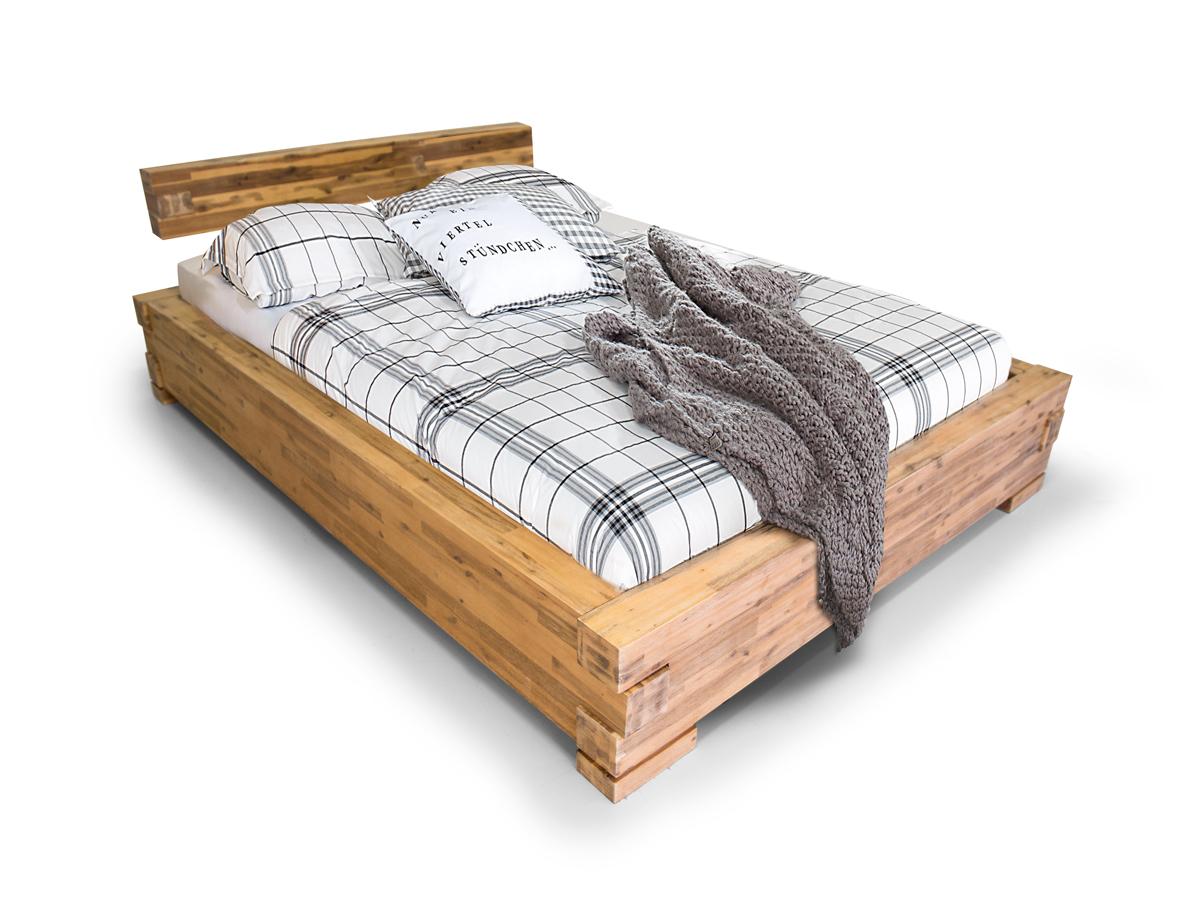 Möbel-Eins SUNNY Massivholzbett Akazie gebürstet
