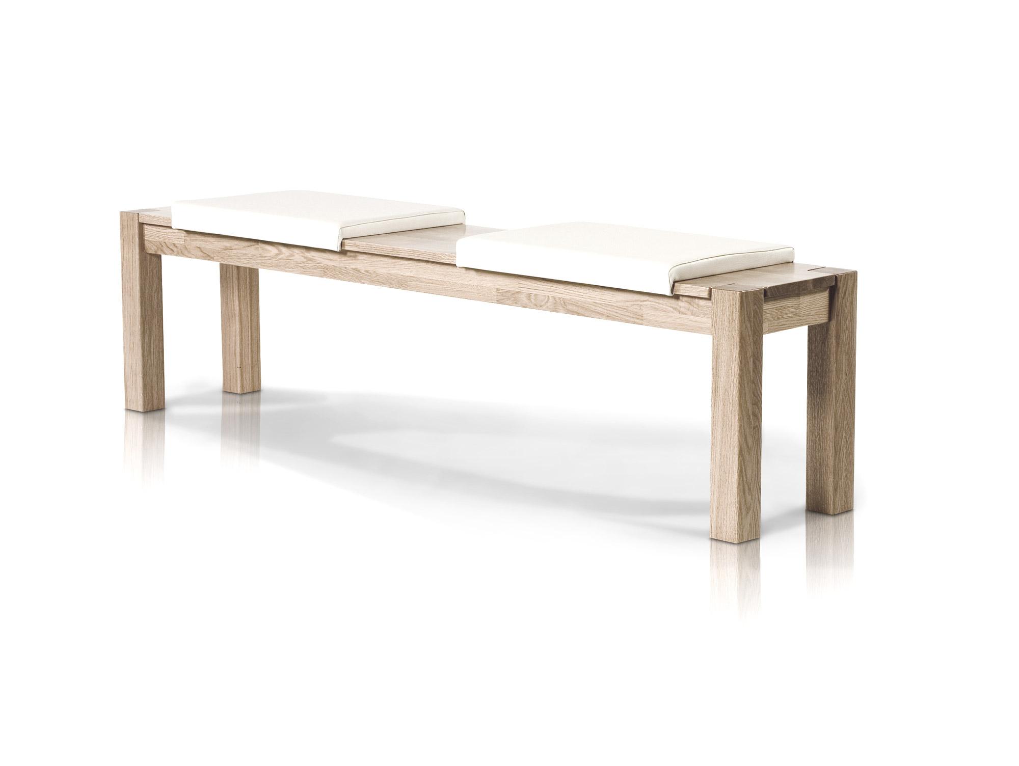timo sitzbank vollmassiv 140 x 35 cm eiche sonoma lackiert. Black Bedroom Furniture Sets. Home Design Ideas