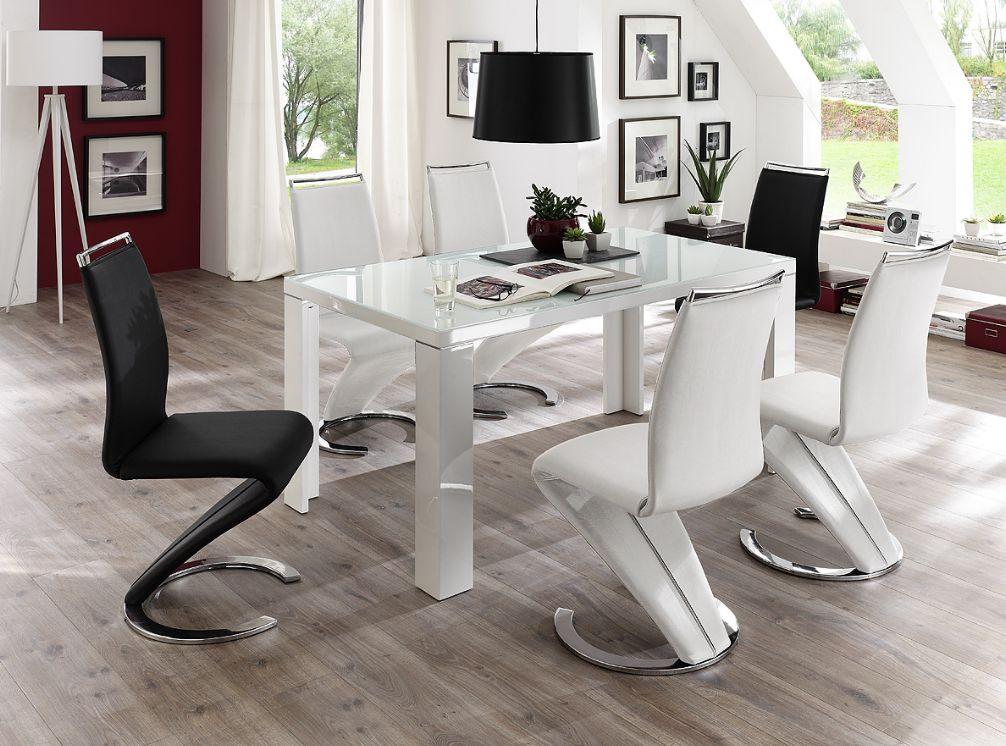 esstisch weiss hochglanz g nstig kaufen. Black Bedroom Furniture Sets. Home Design Ideas