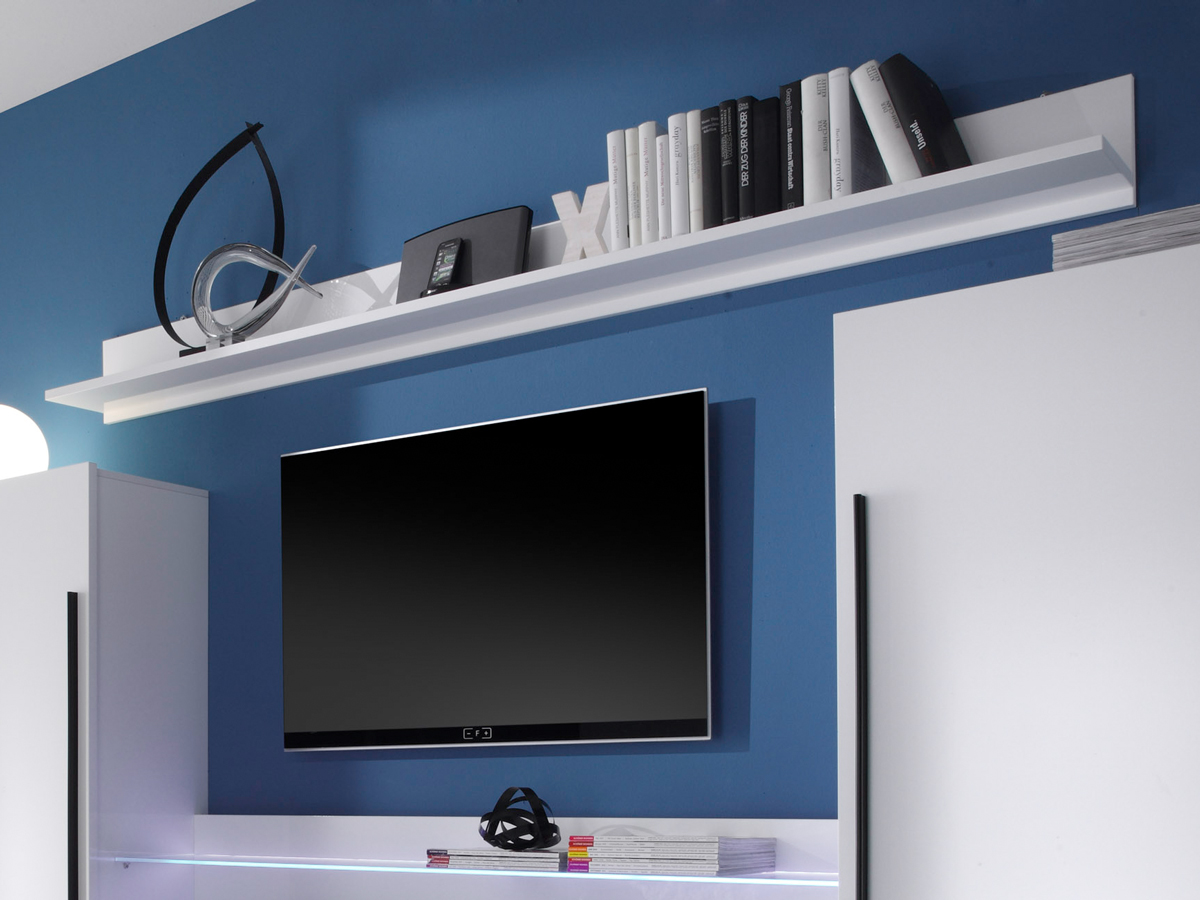 wandregal hochglanz weiss g nstig kaufen. Black Bedroom Furniture Sets. Home Design Ideas