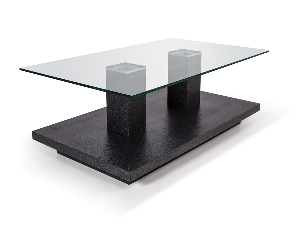 Tower i couchtisch granit optik glas for Couchtisch anthrazit hochglanz