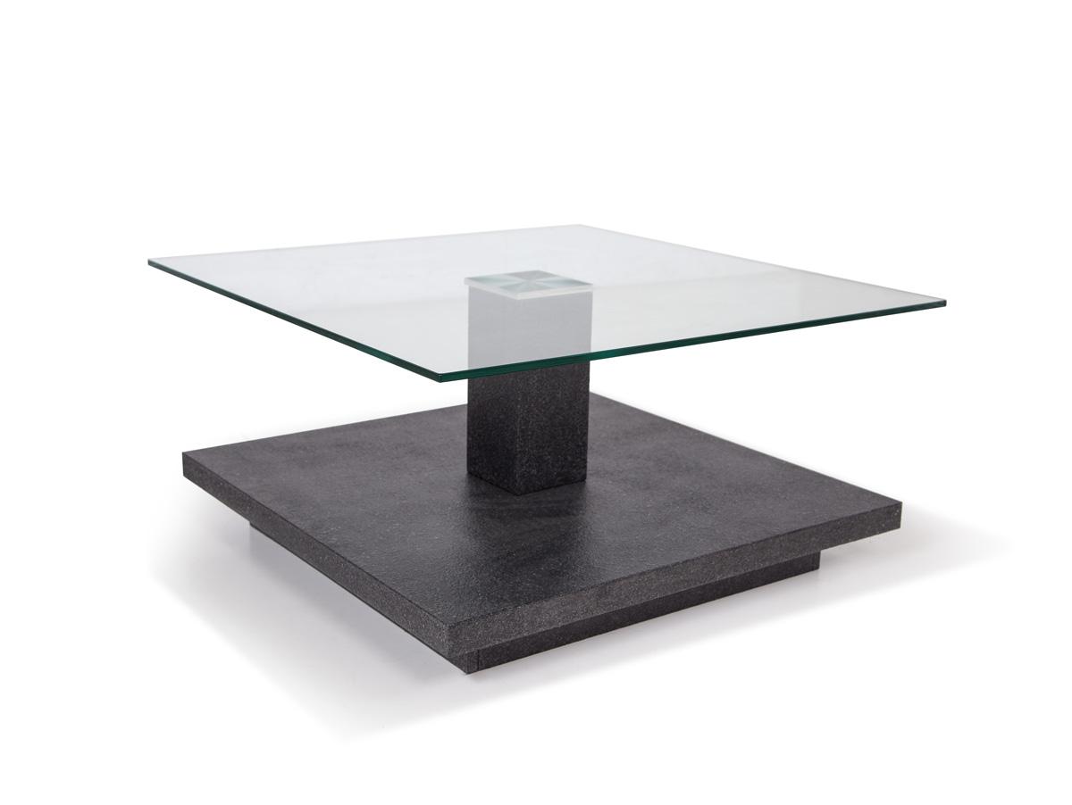 Tower ii couchtisch granit optik glas for Granit couchtisch