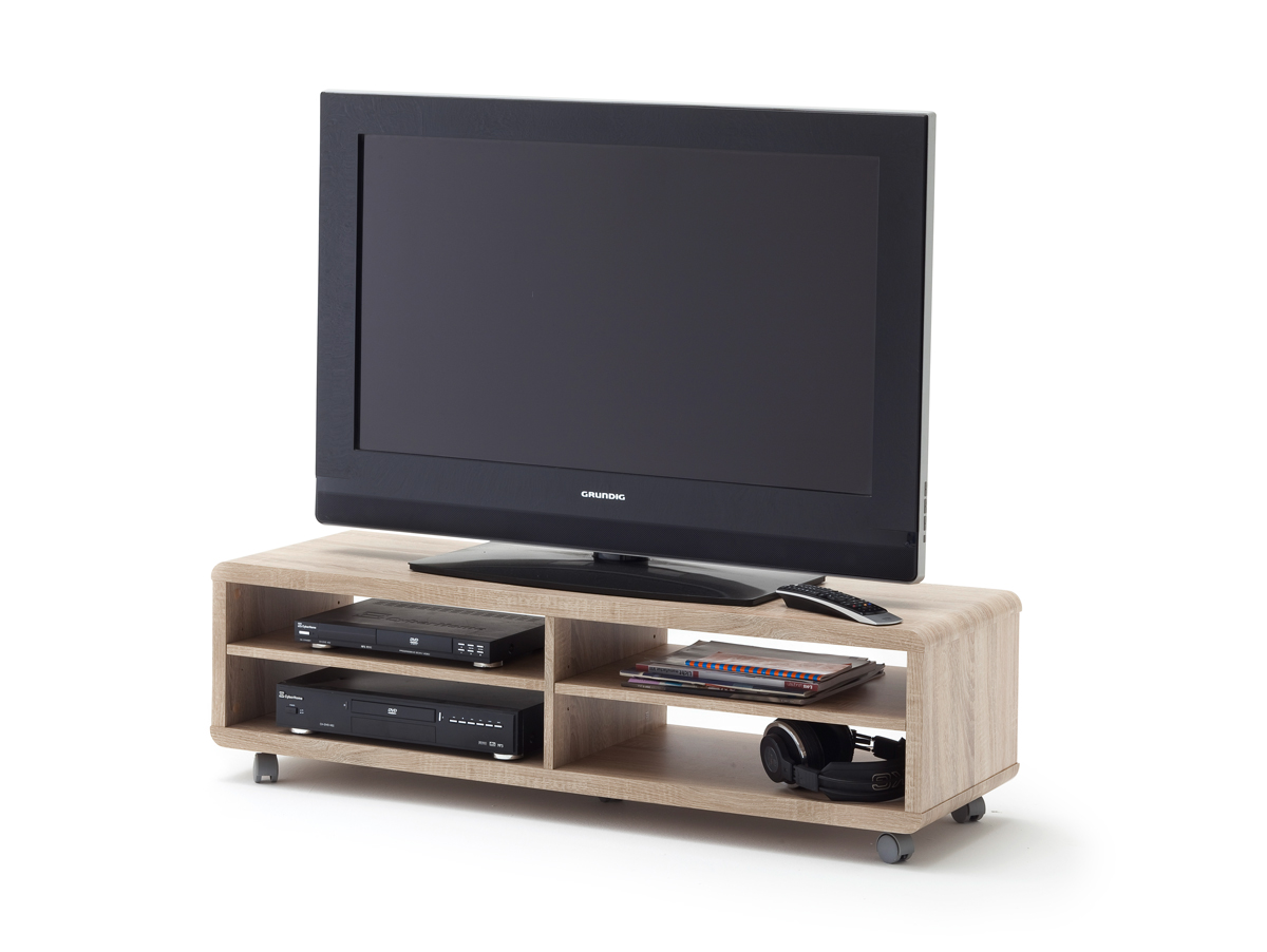 jaap xl tv lowboard eiche s gerau mit rollen. Black Bedroom Furniture Sets. Home Design Ideas