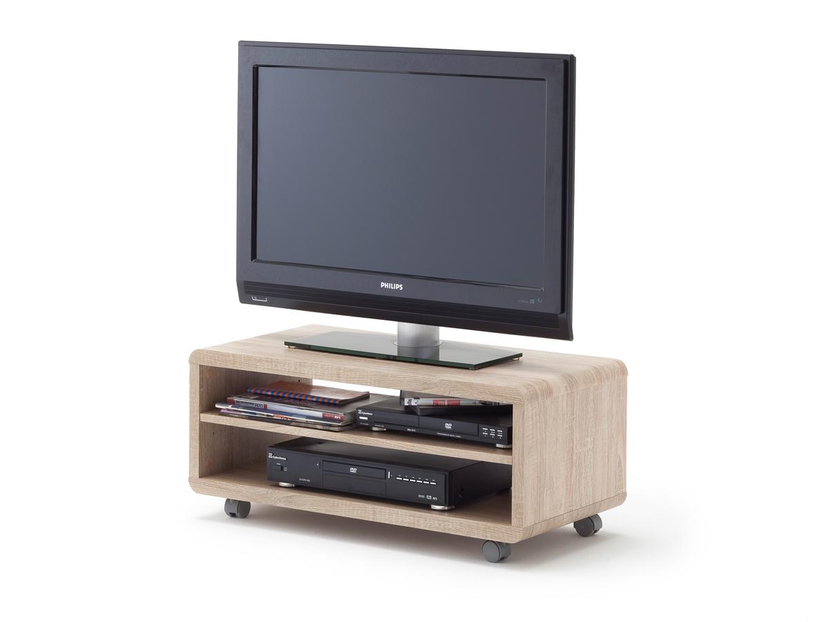 jaap tv lowboard eiche s gerau mit rollen. Black Bedroom Furniture Sets. Home Design Ideas