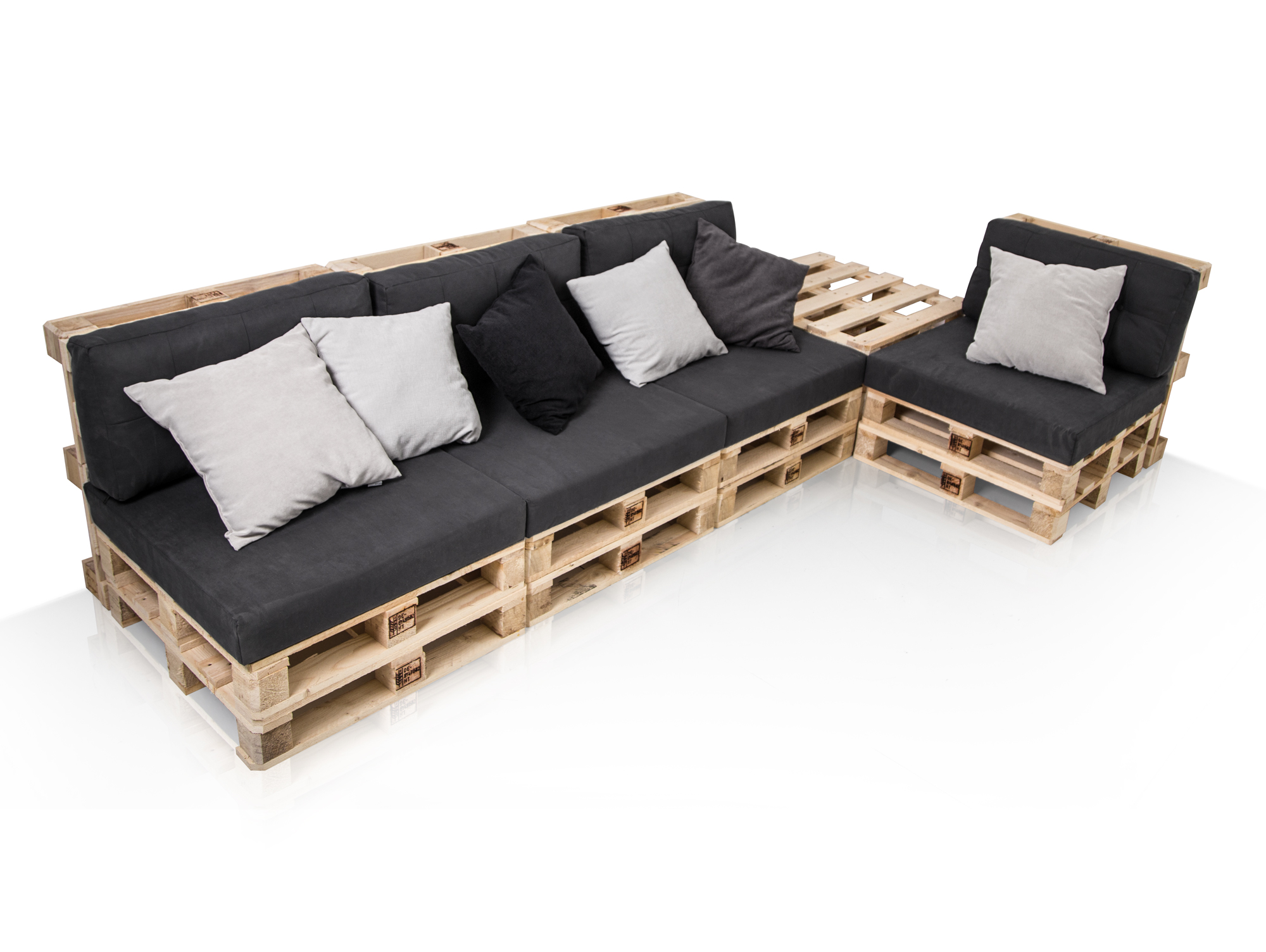 paletti sofalandschaft i sofa aus paletten fichte massiv fichte natur. Black Bedroom Furniture Sets. Home Design Ideas