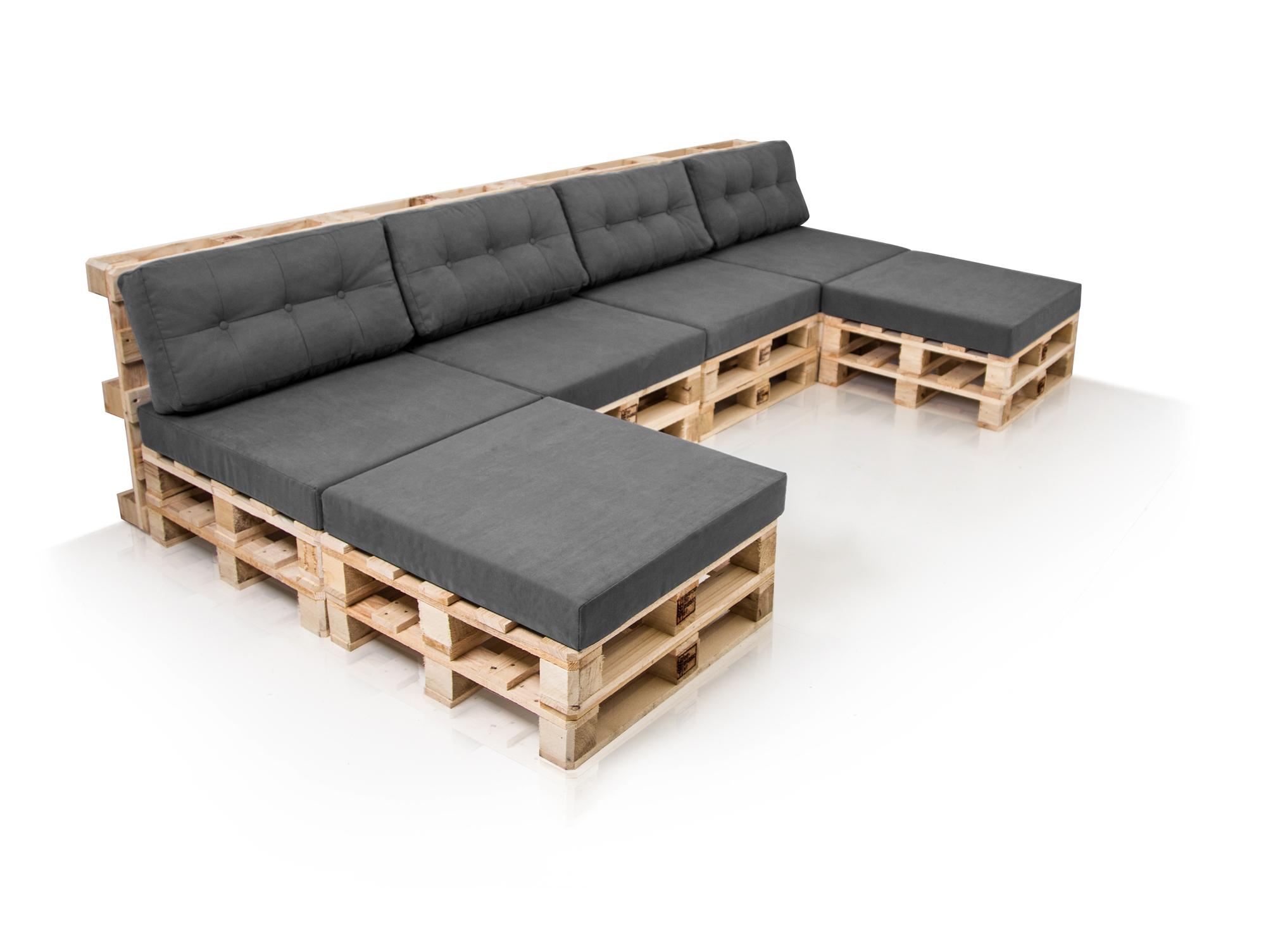 PALETTI Sofalandschaft Sofa aus Paletten Fichte Fichte natur